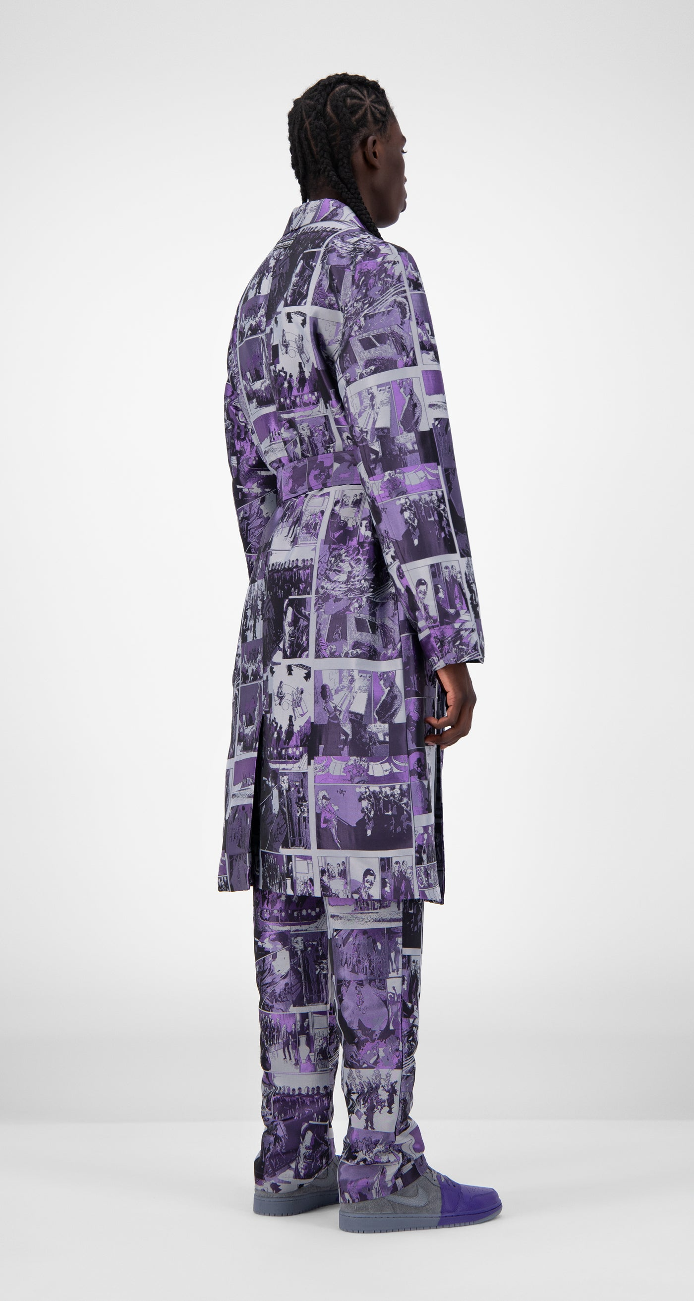 Daily Paper - Purple Comic Jokim Coat - Men Rear