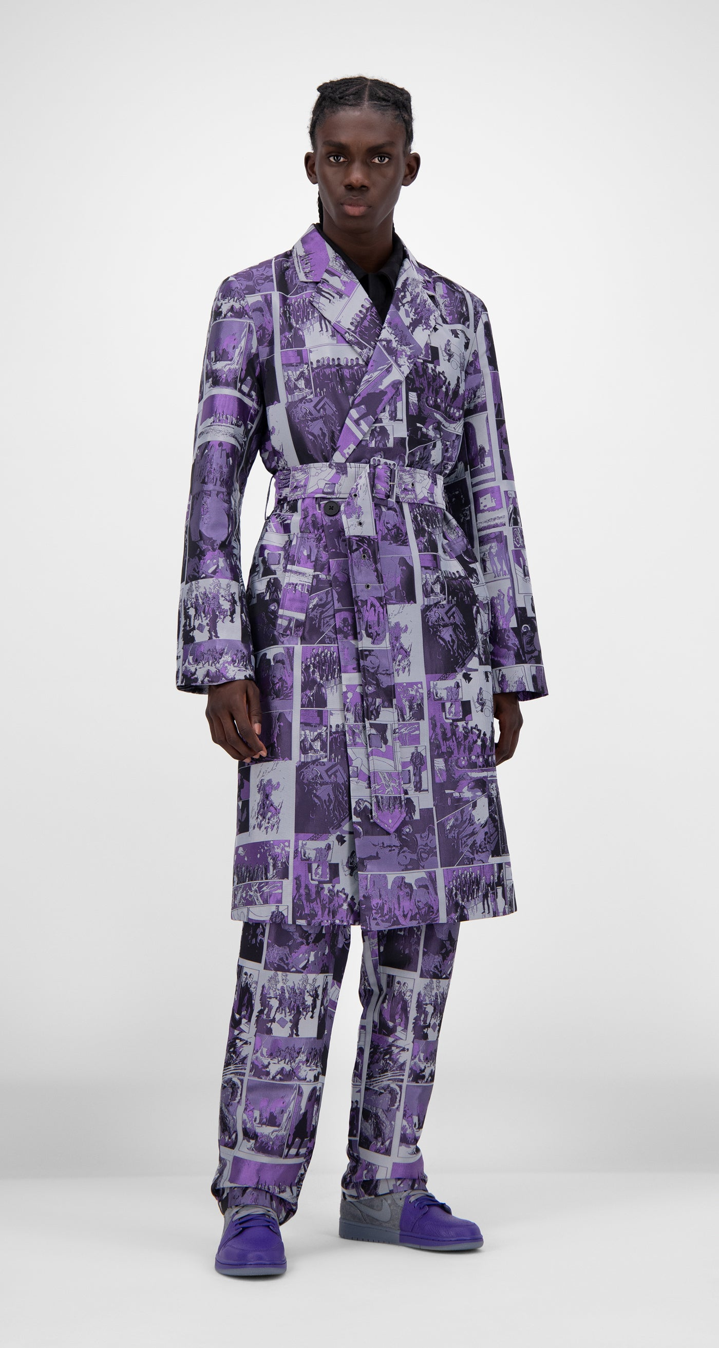 Daily Paper - Purple Comic Jokim Coat - Men