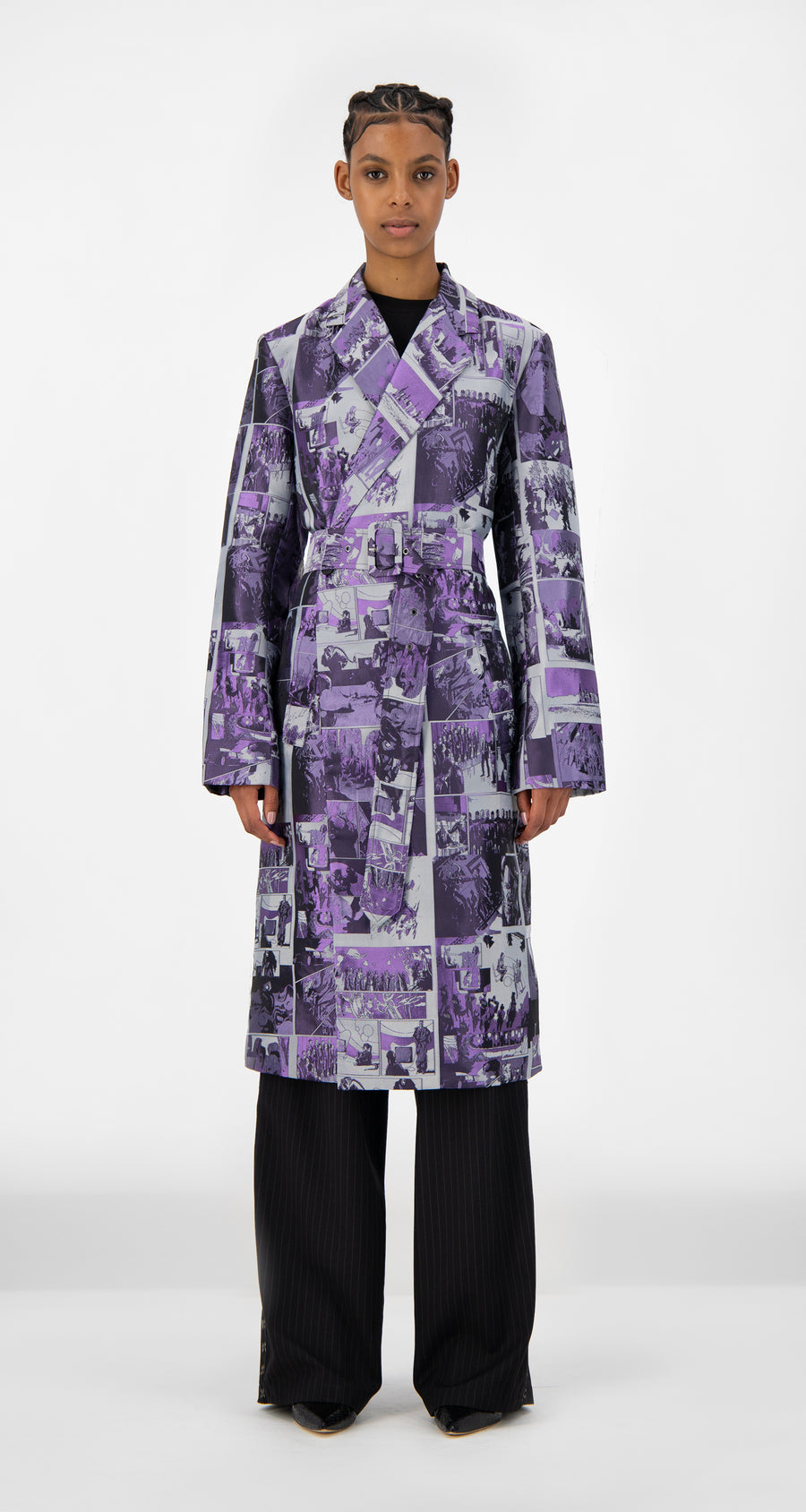 Daily Paper - Purple Comic Jokim Coat - Women Front