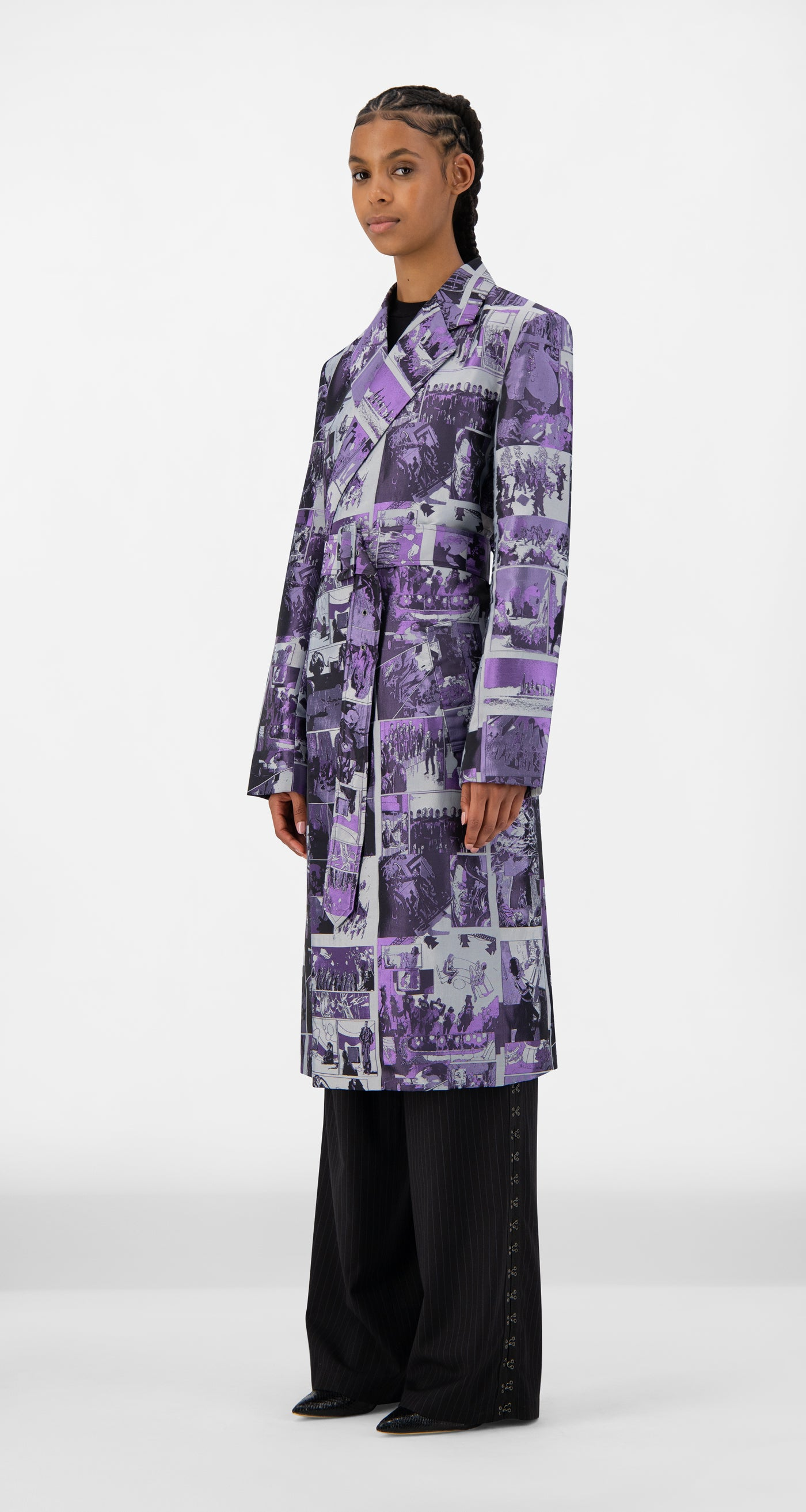 Daily Paper - Purple Comic Jokim Coat - Women