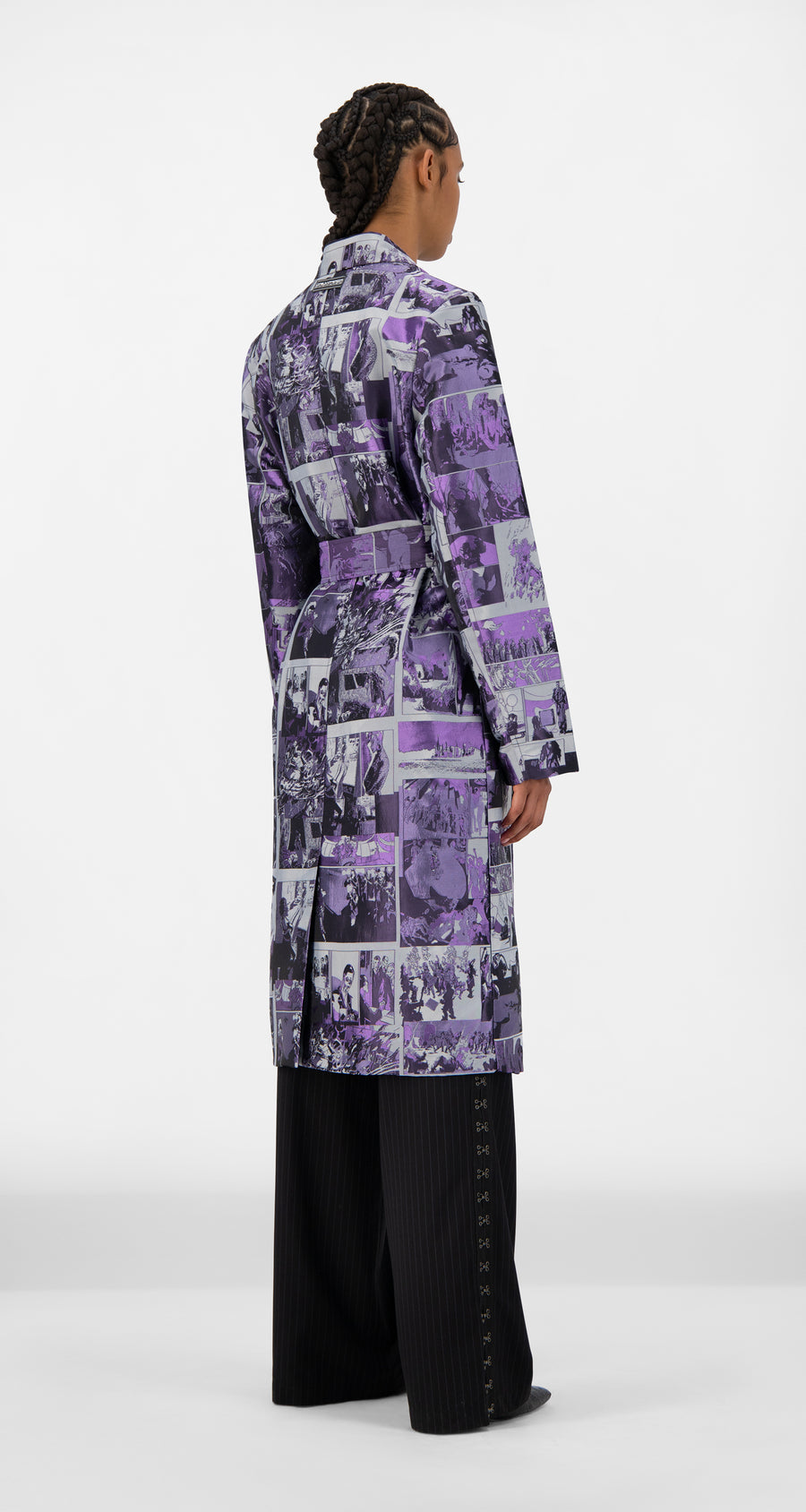 Daily Paper - Purple Comic Jokim Coat - Women Rear