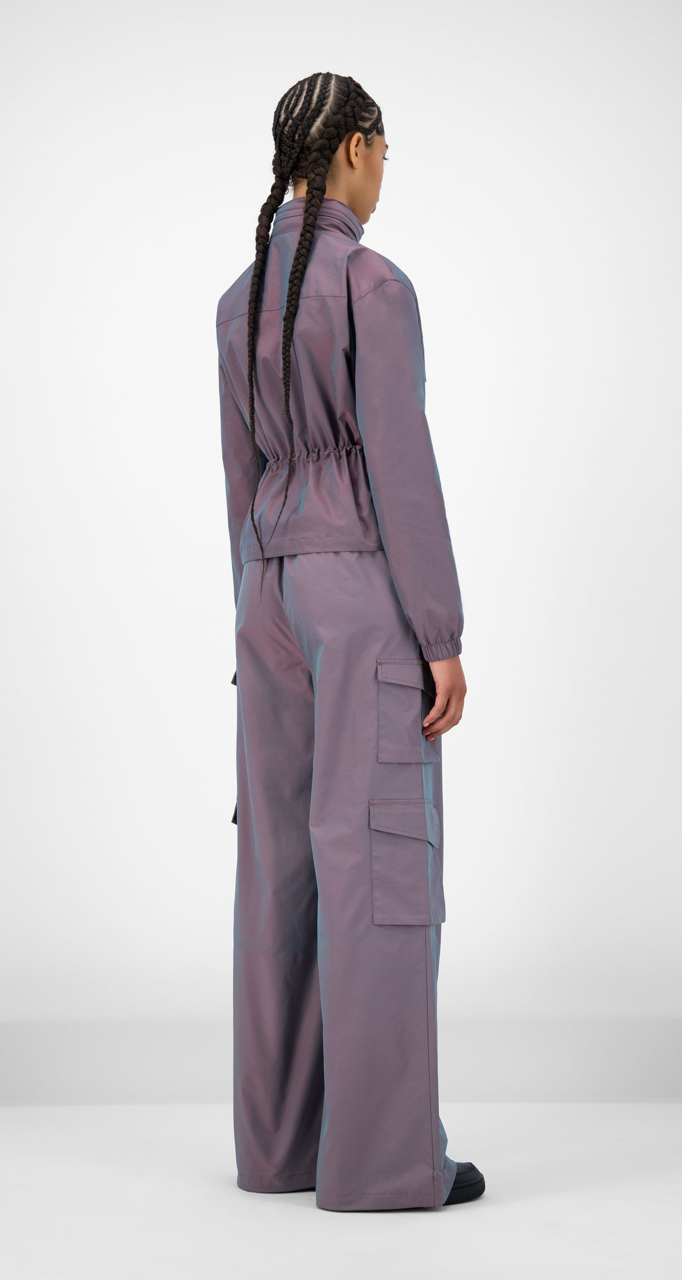Daily Paper - Purple Green Reflective Jano Jacket - Women Rear