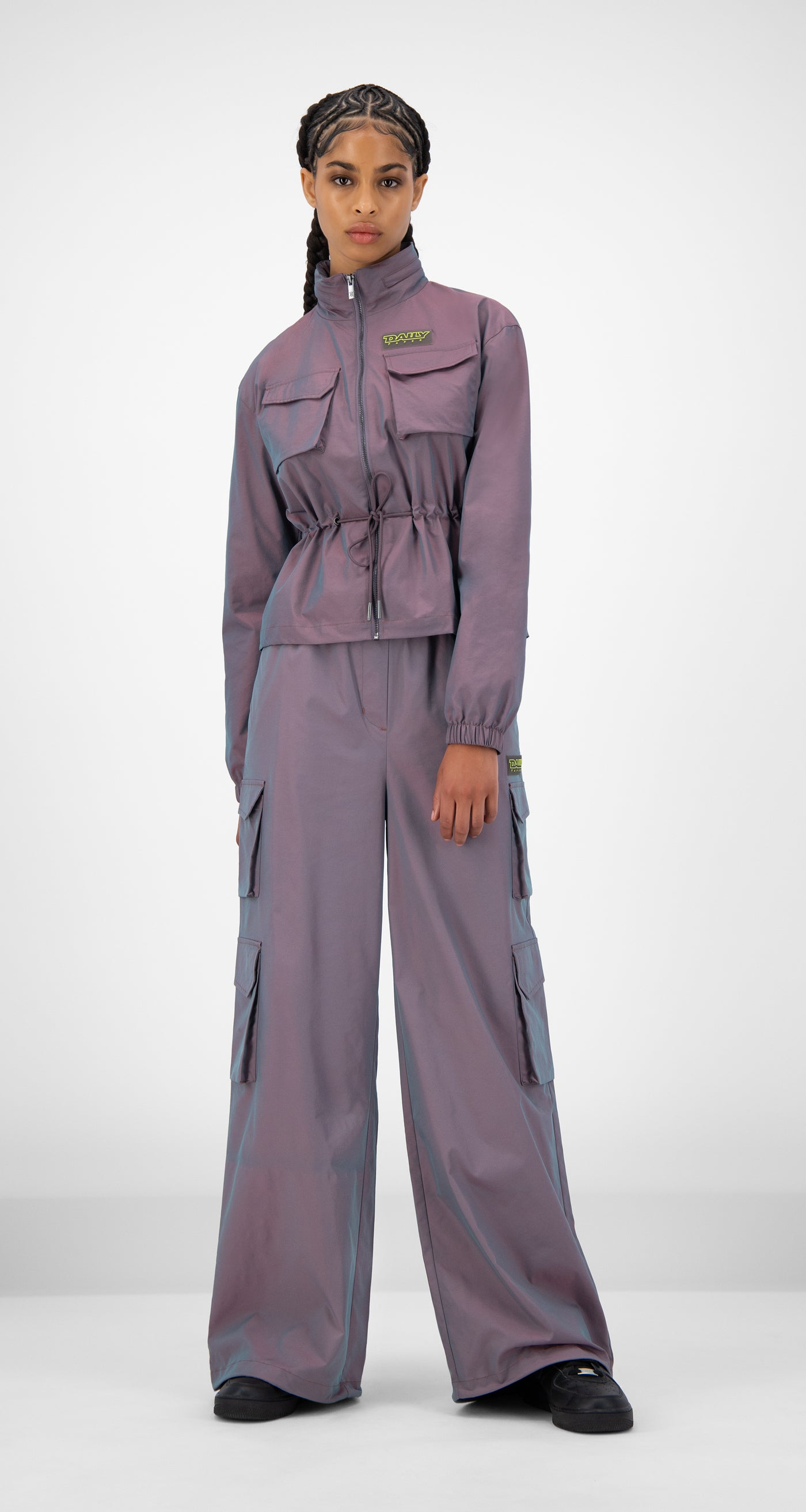 Daily Paper - Purple Green Reflective Jano Jacket - Women