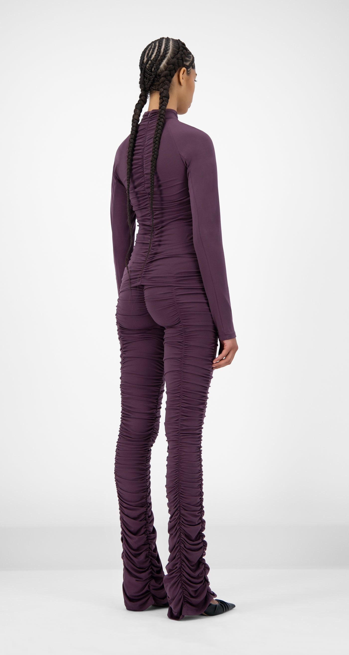 Daily Paper - Purple Jaeda Top - Women Rear