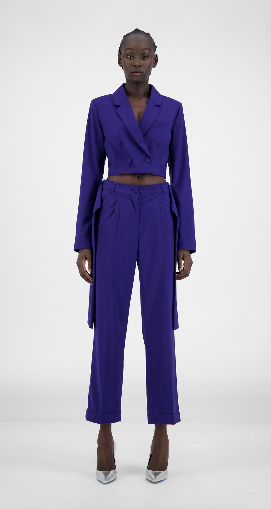 Daily Paper - Purple Hleur Blazer - Women Front