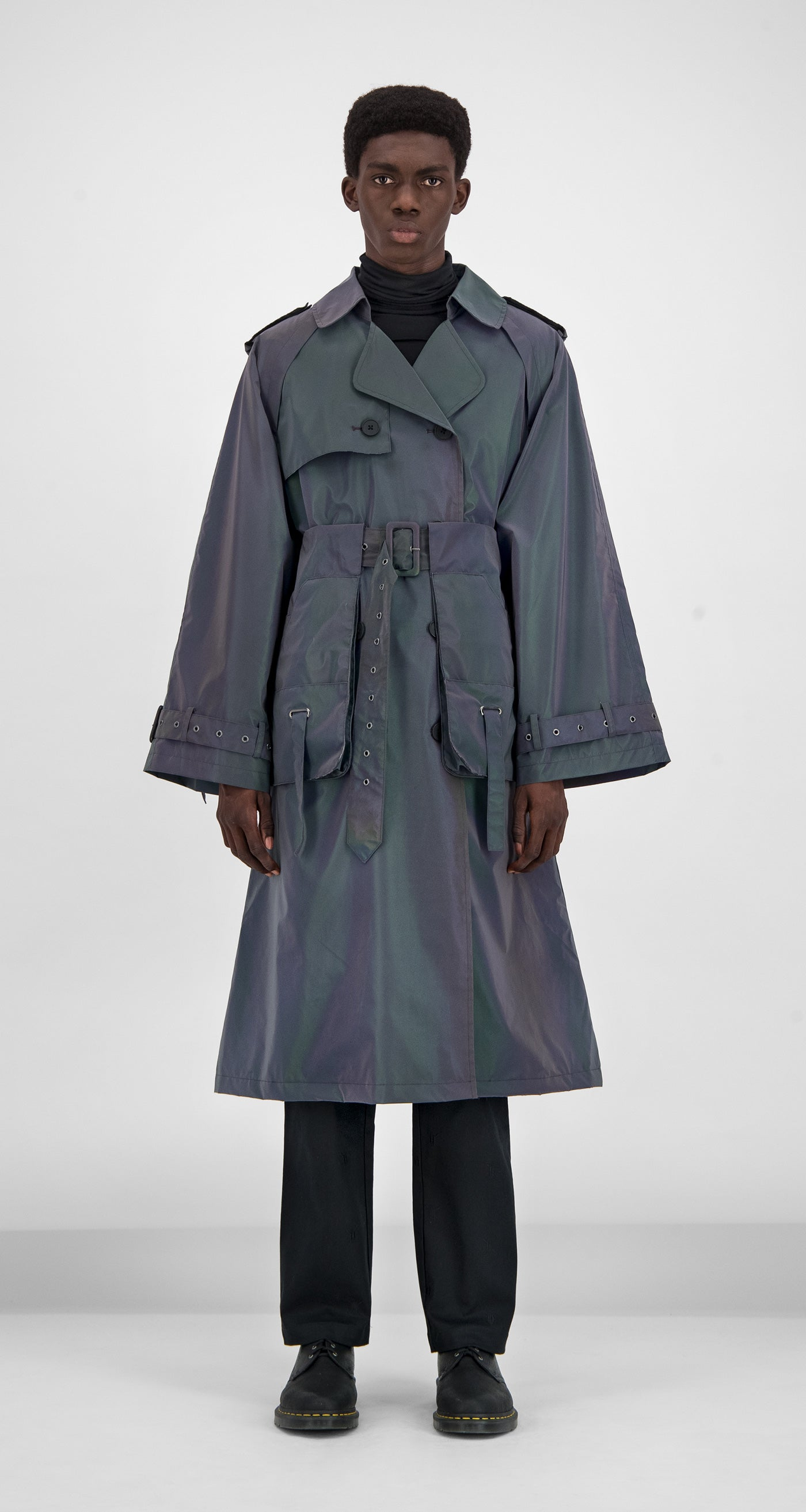 Daily Paper - Purple Reflective Gante Coat Men