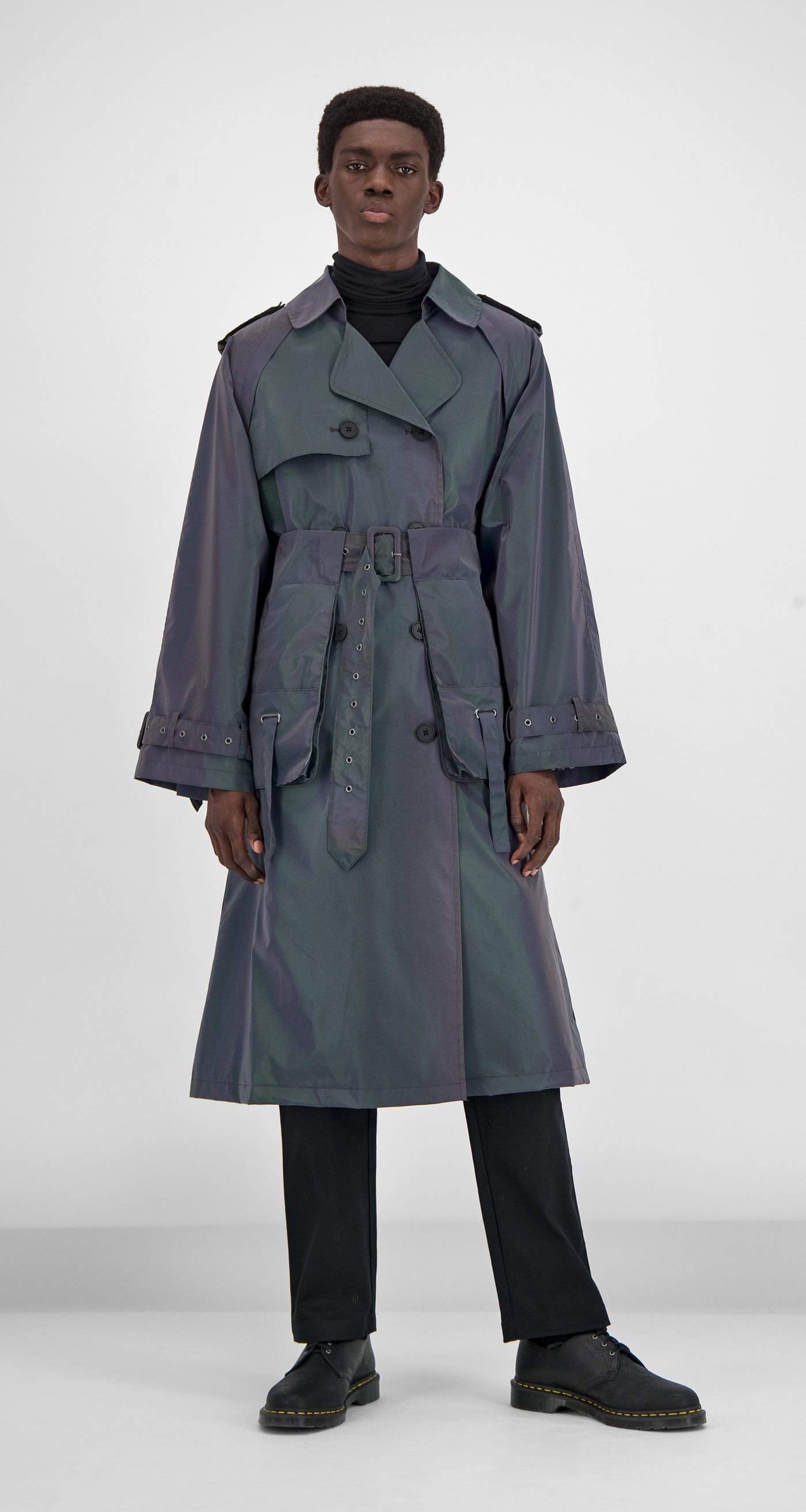 Daily Paper - Purple Reflective Gante Coat Men Front