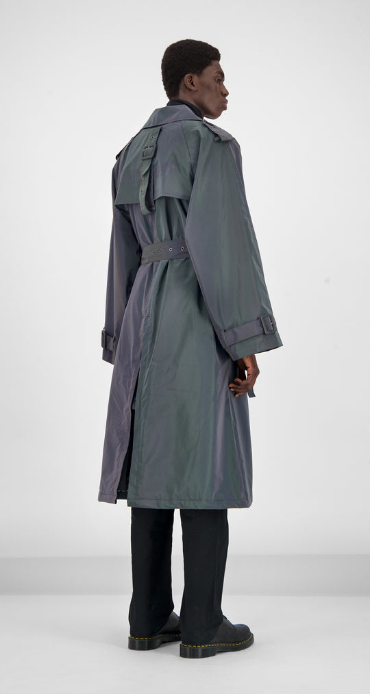 Daily Paper - Purple Reflective Gante Coat Men Rear