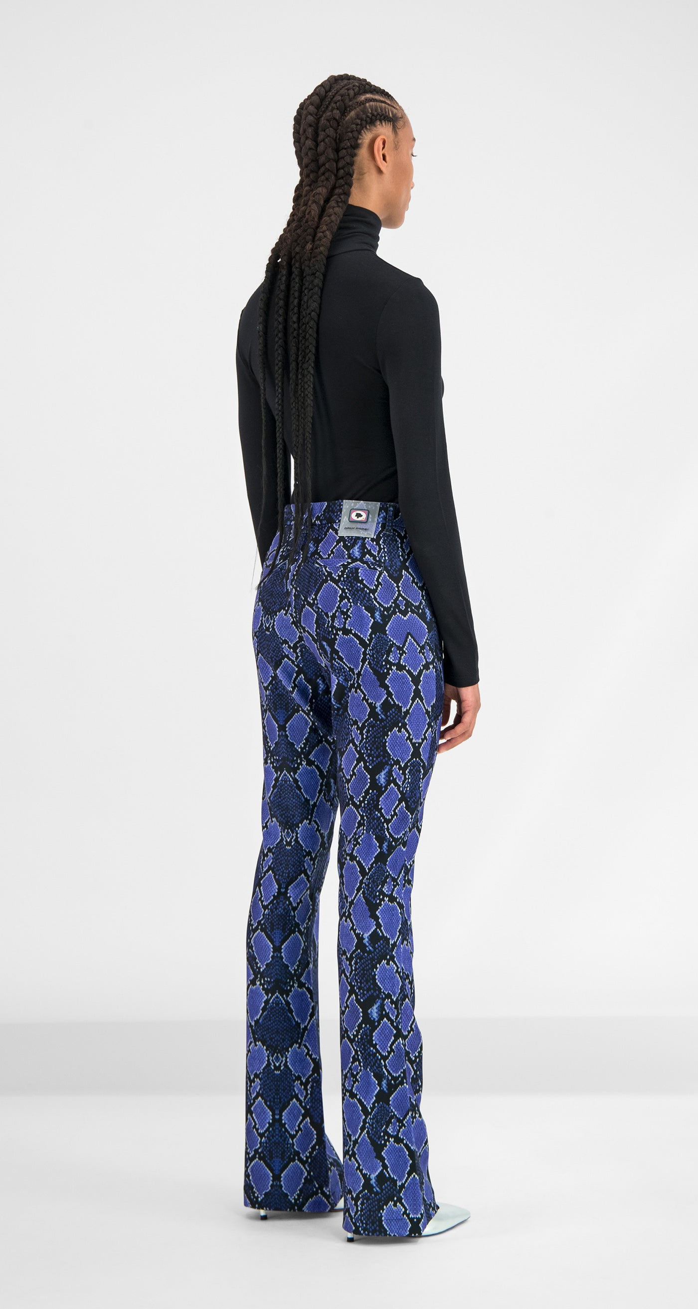 Daily Paper - Purple Snake Gady Pants Women Rear