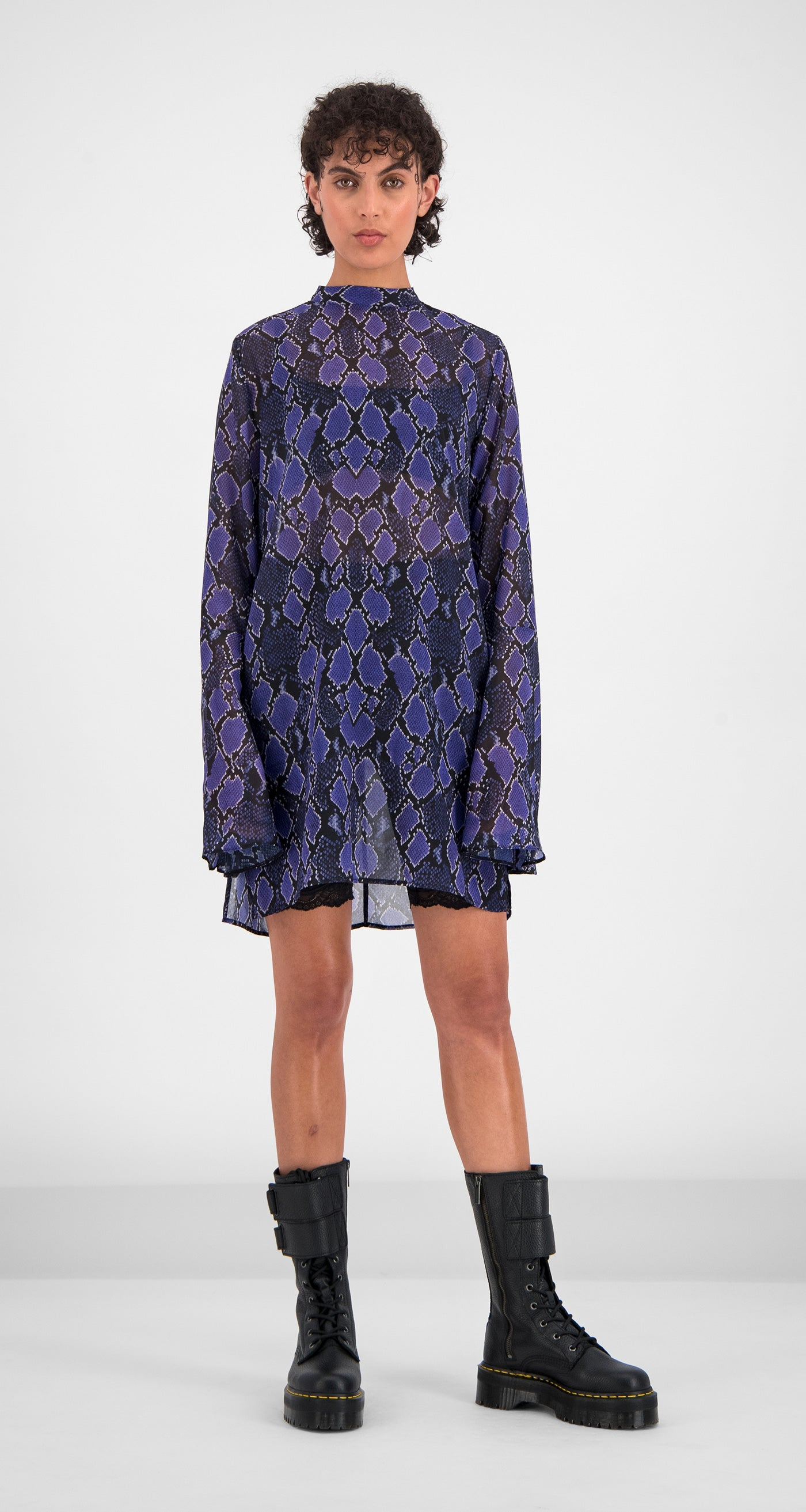 Daily Paper - Purple Snake Galca Dress Women