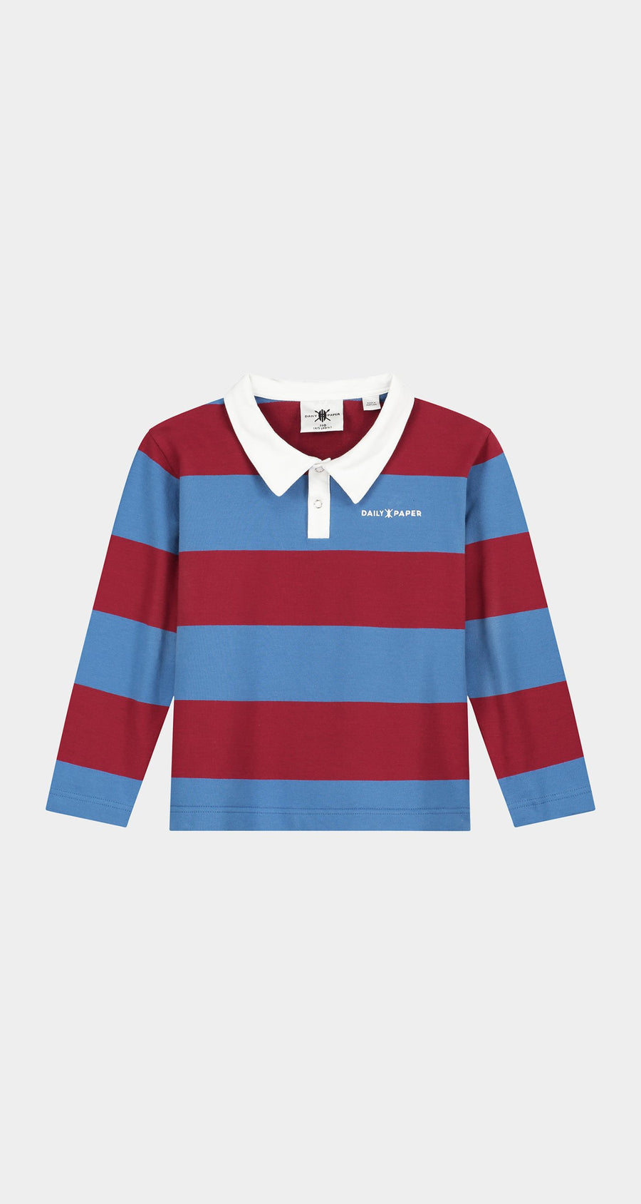 Daily Paper - Red Kids Polo Longsleeve Front