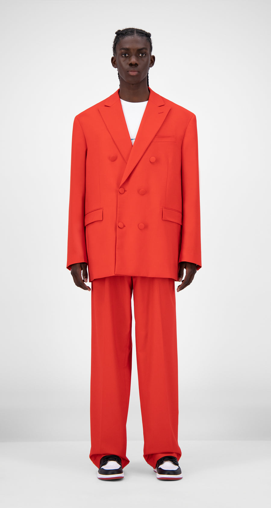 Daily Paper - Red Jecker Blazer - Men Front