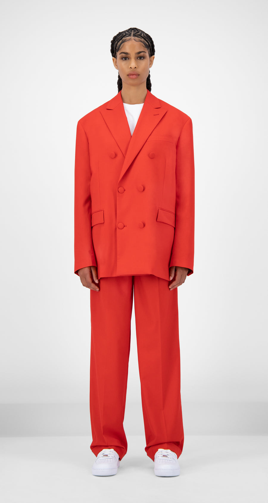 Daily Paper - Red Jecker Blazer - Women Front