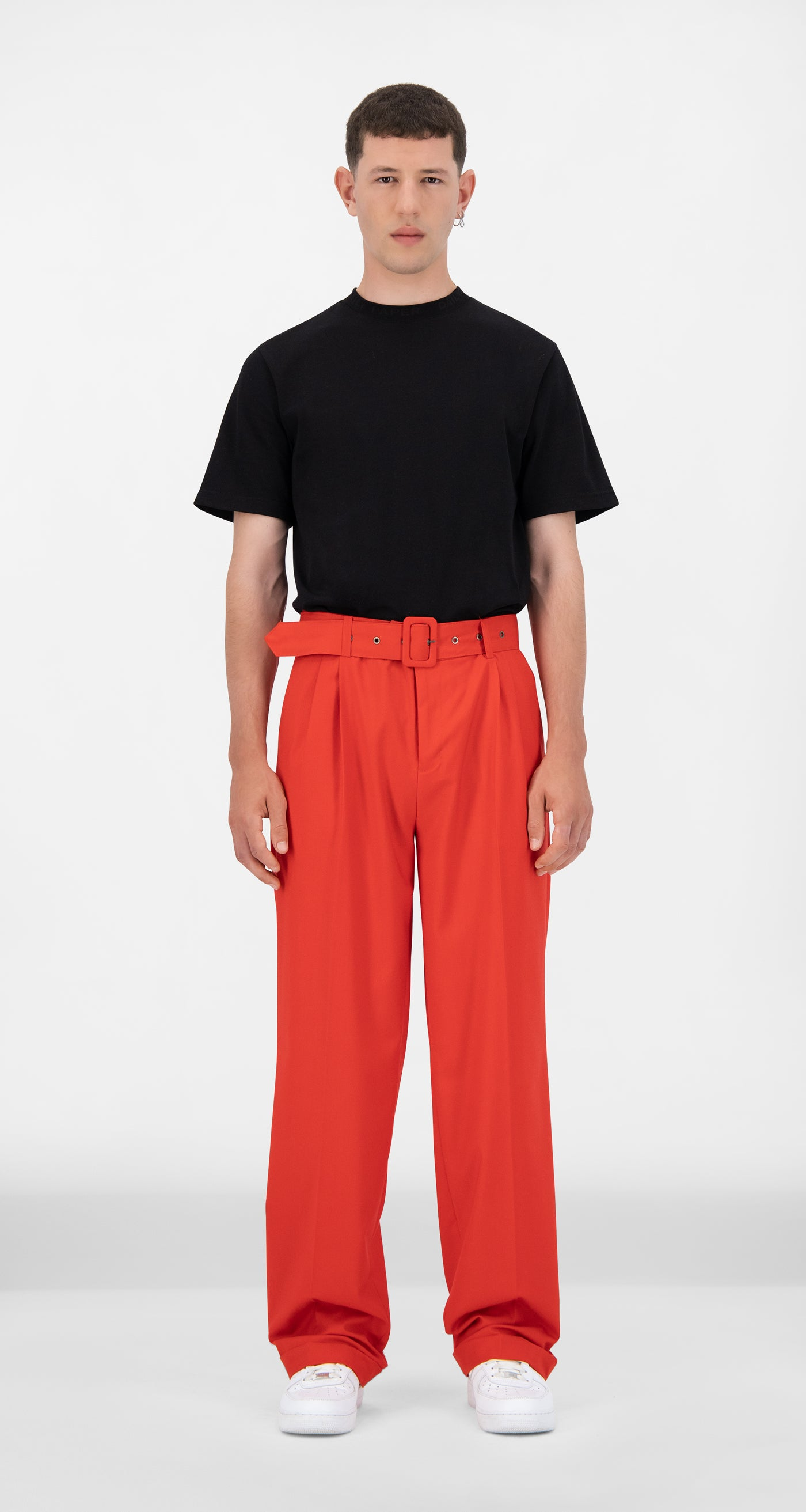 Daily Paper - Red Jiro Pants - Men Front