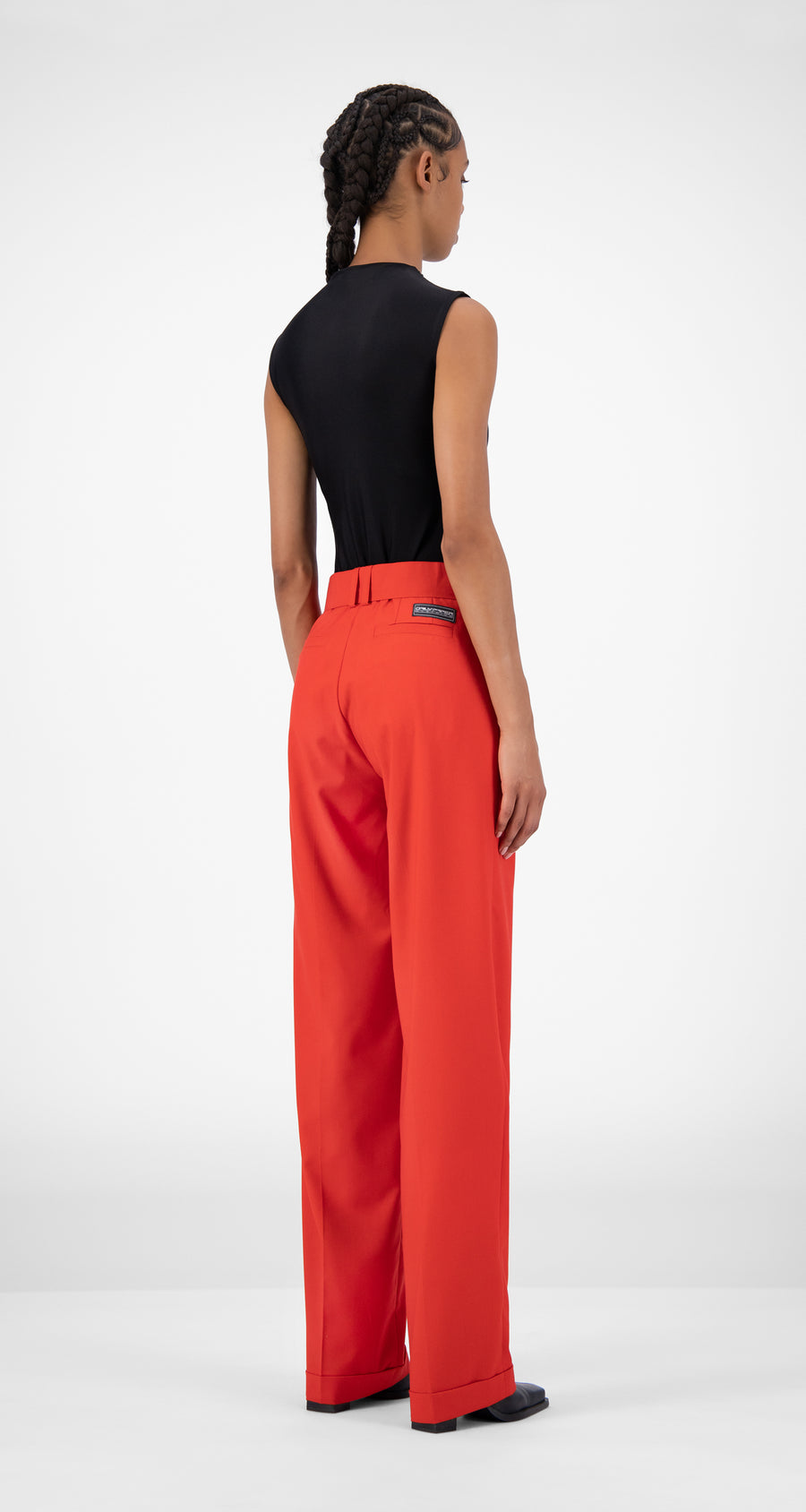 Daily Paper - Red Jiro Pants - Women Rear