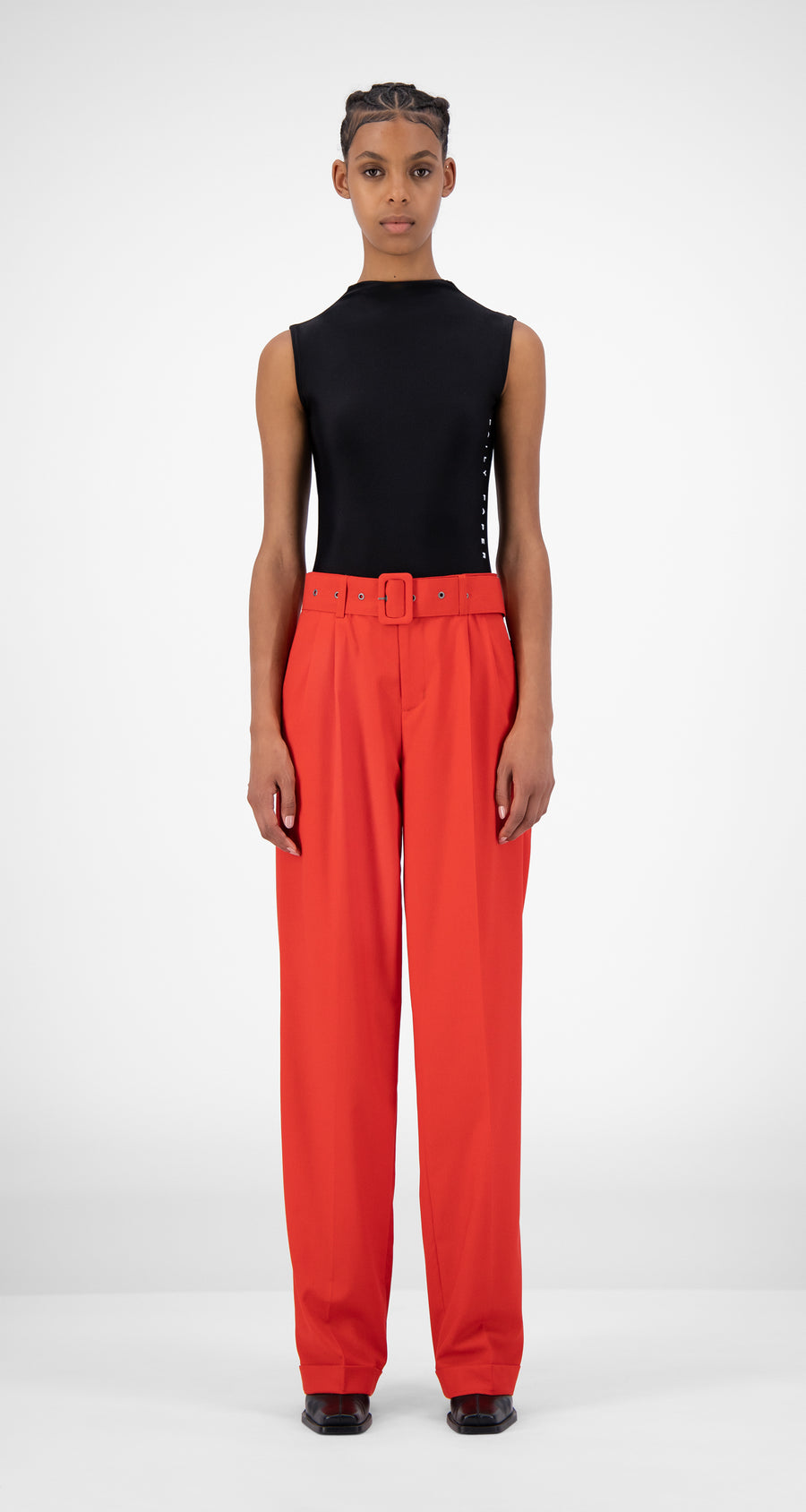 Daily Paper - Red Jiro Pants - Women Front