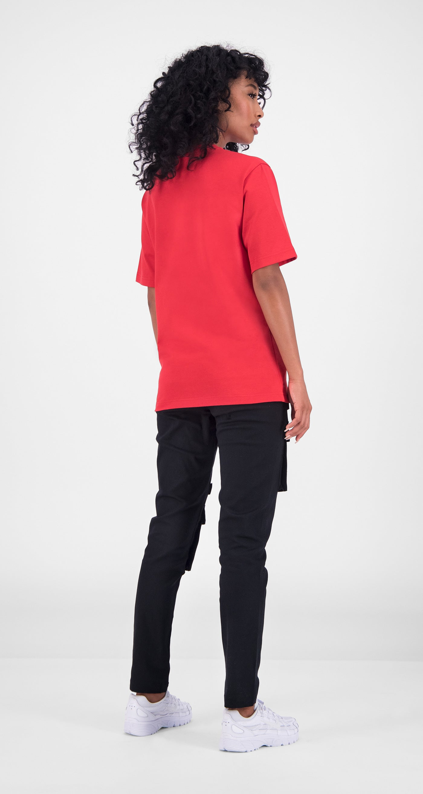 Daily Paper - Red Essential T-Shirt Women Rear