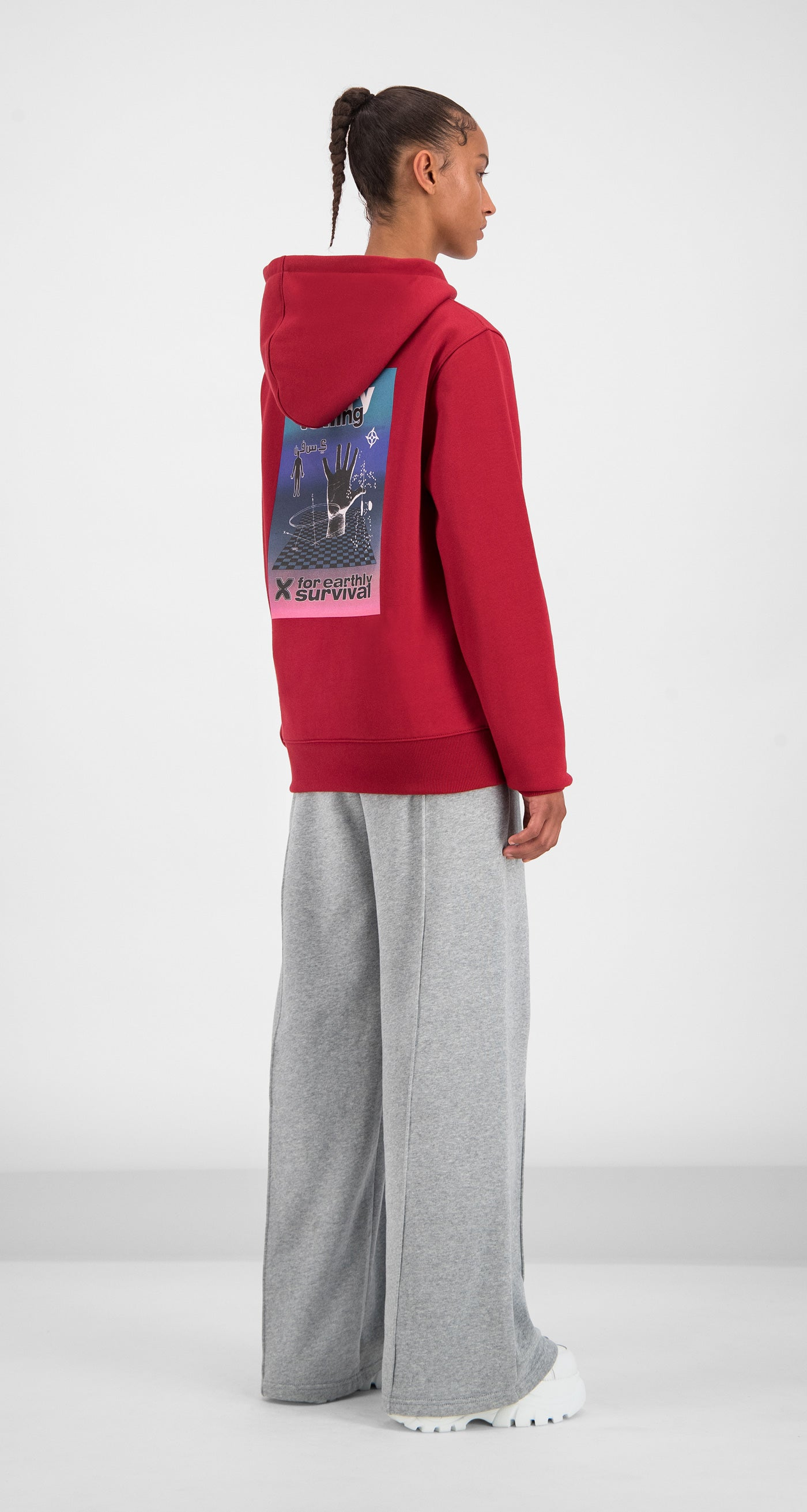 Daily Paper - Red Gario Hoody Women Rear