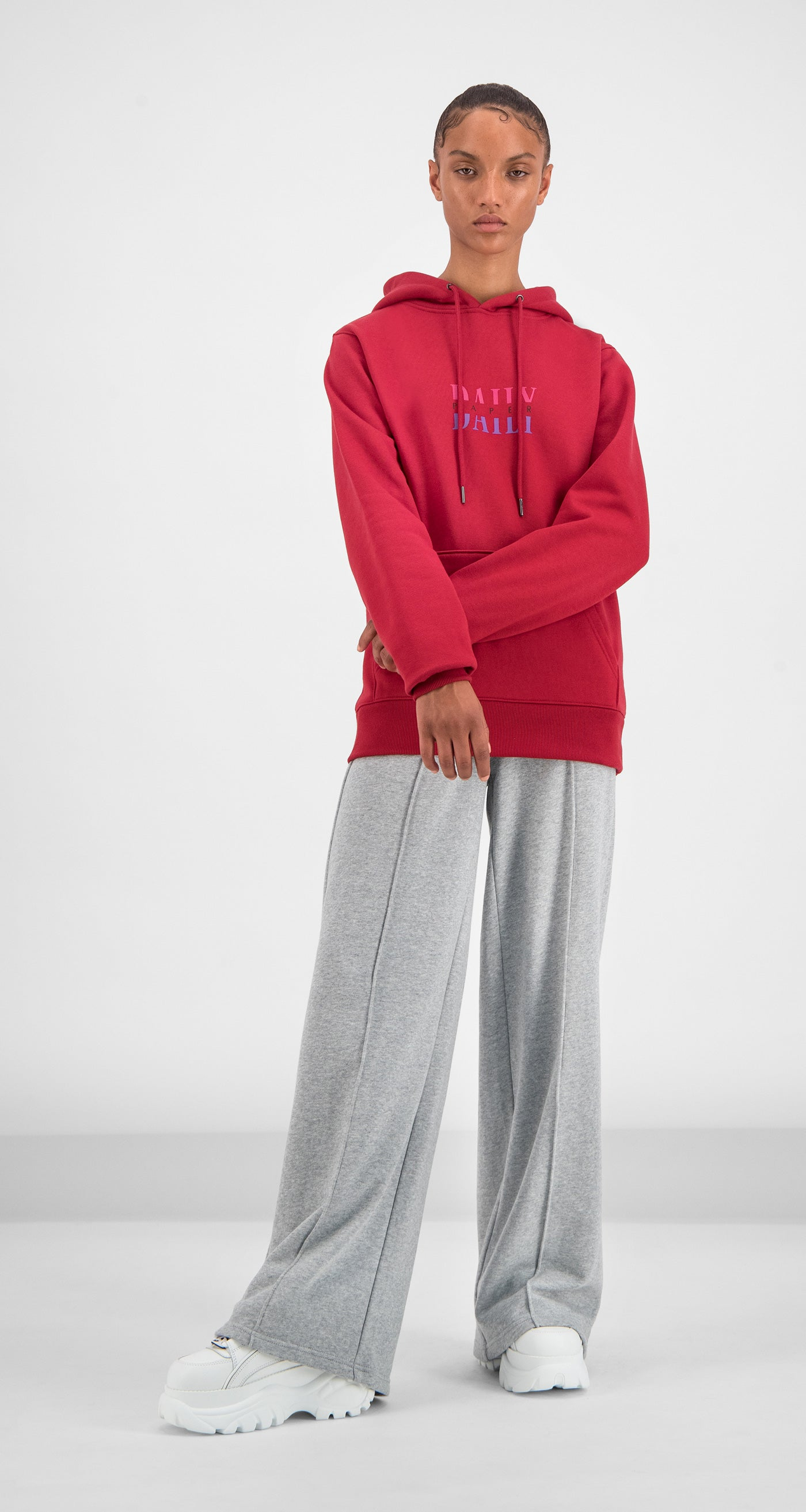 Daily Paper - Red Gario Hoody Women Front