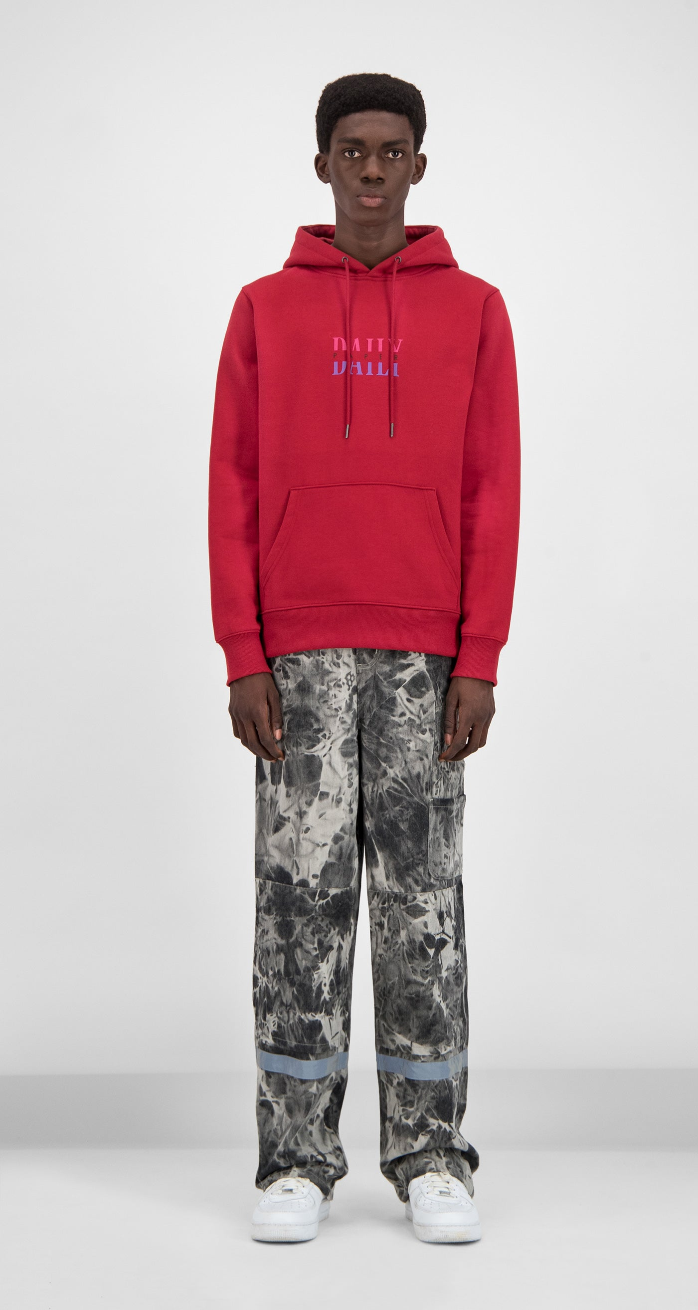 Daily Paper - Red Gario Hoody Men Front