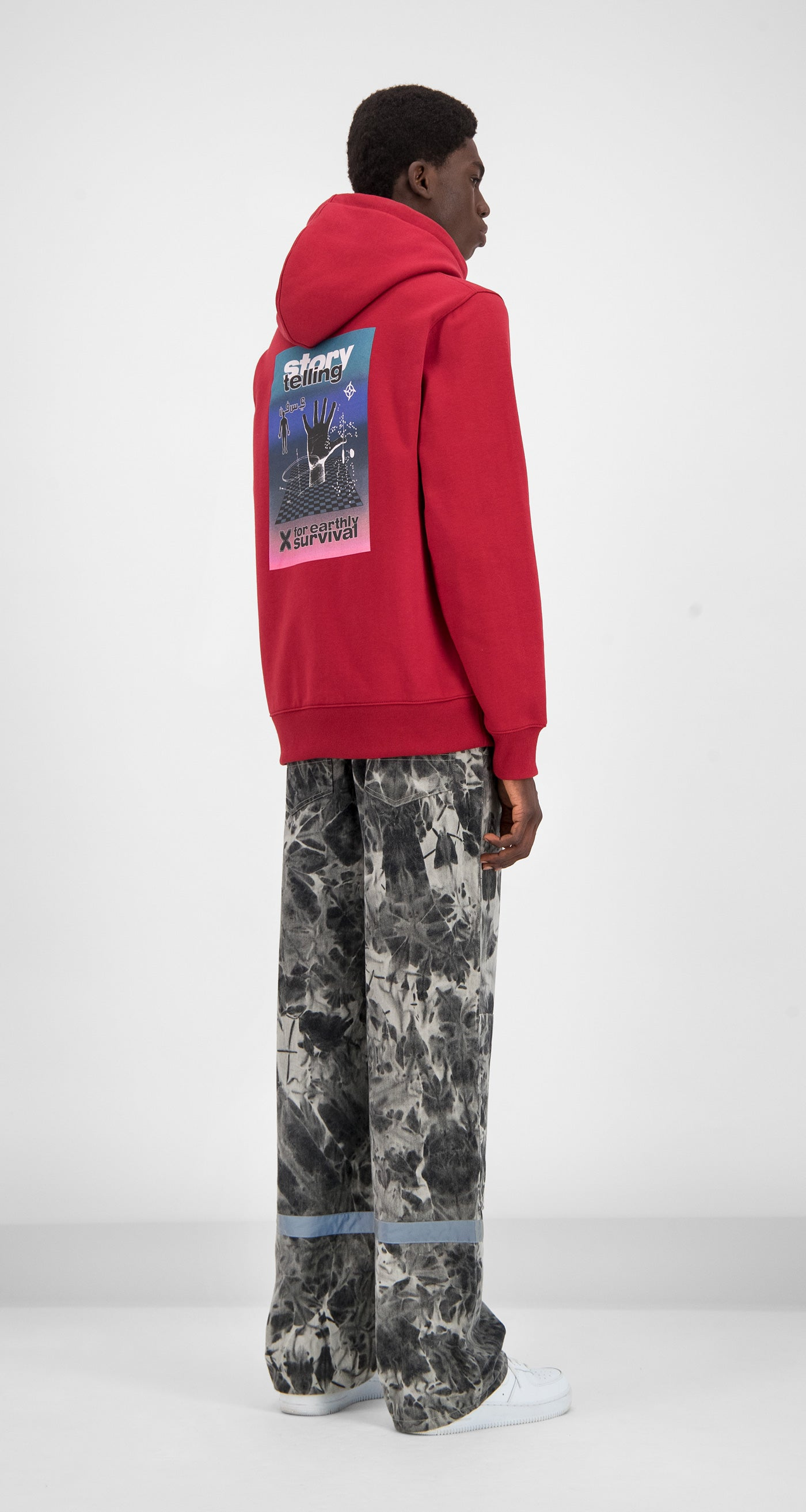 Daily Paper - Red Gario Hoody Men Rear