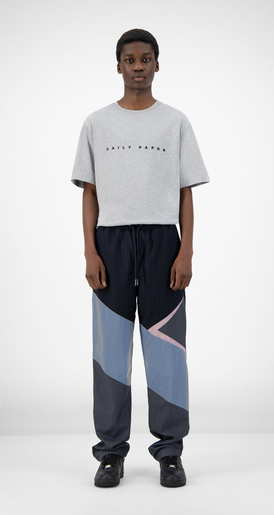 Daily Paper - Reflective Grey Jachin Pants - Men Front