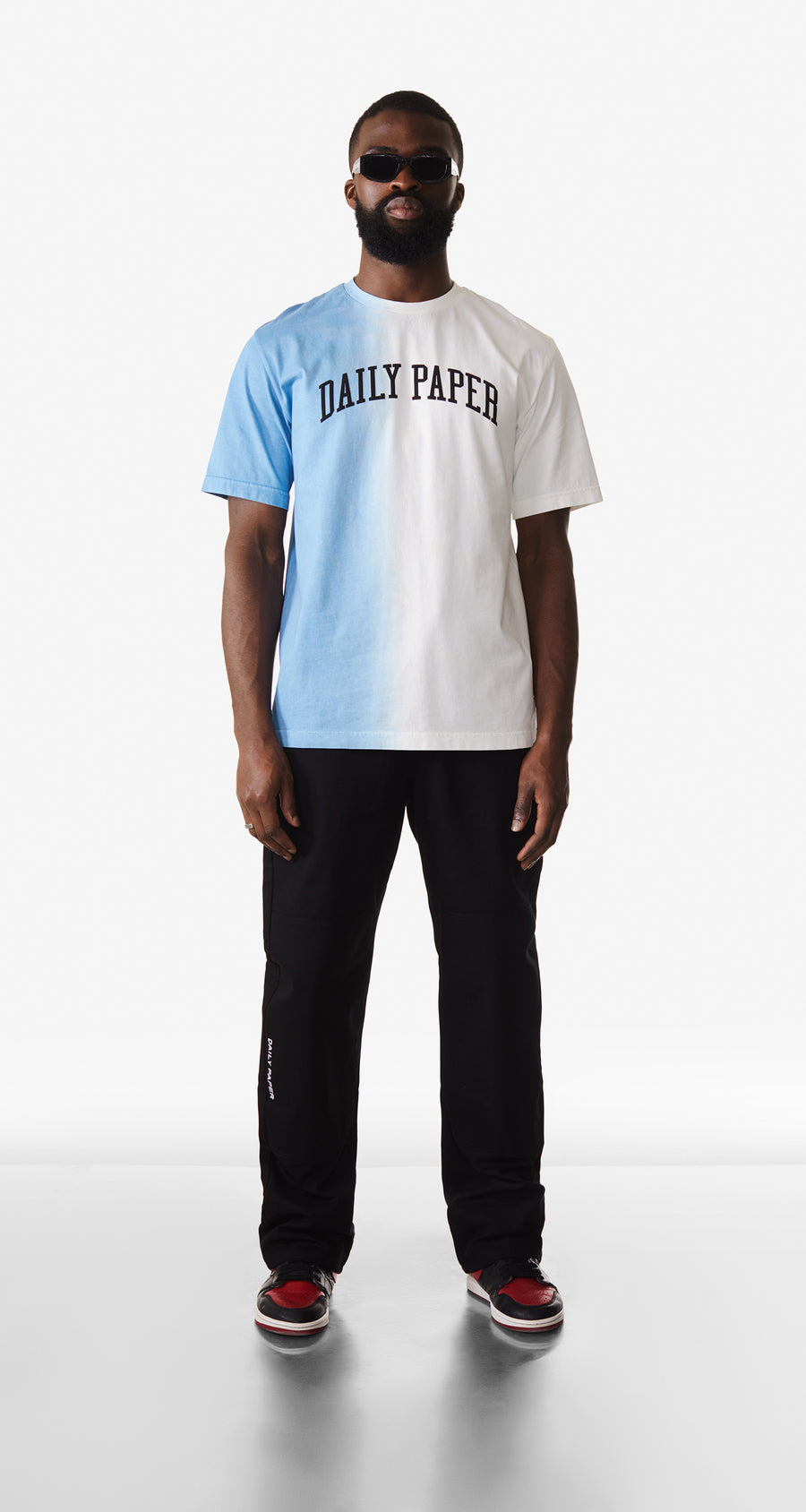 Daily Paper - Light Blue Rebo T-Shirt - Men Rear