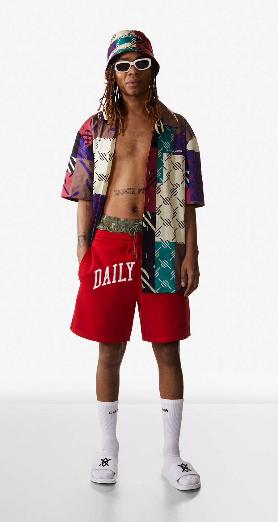 Daily Paper - Multi Coloured Repatch Shirt - Men Rear