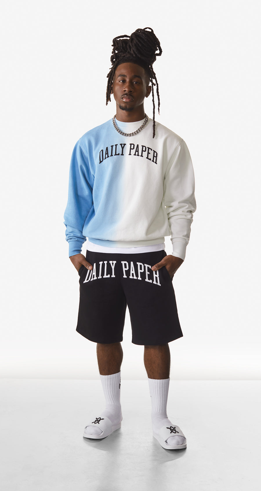Daily Paper - Light Blue Rebo Sweater - Men Rear