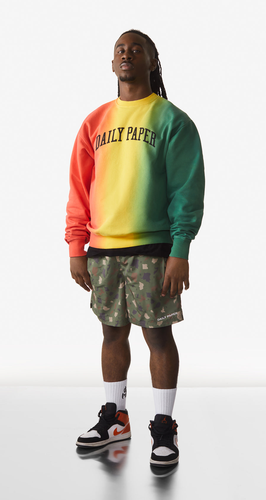 Daily Paper - Red Yellow Green Rebo Sweater - Men Rear