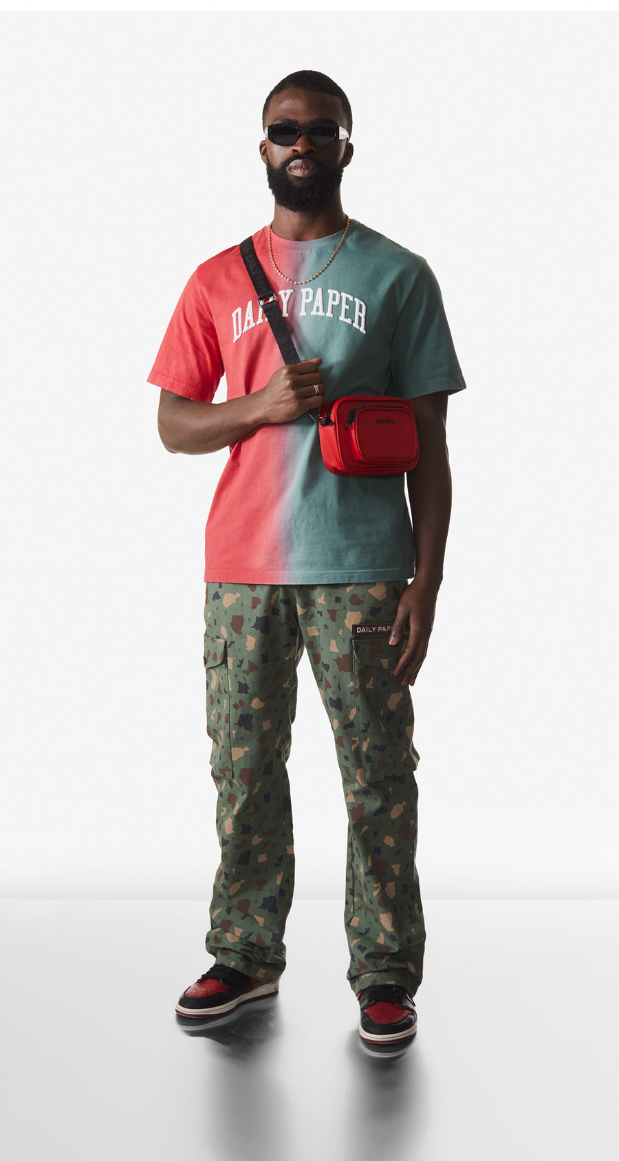 Daily Paper - Red Green Rebo T-Shirt - Men Rear