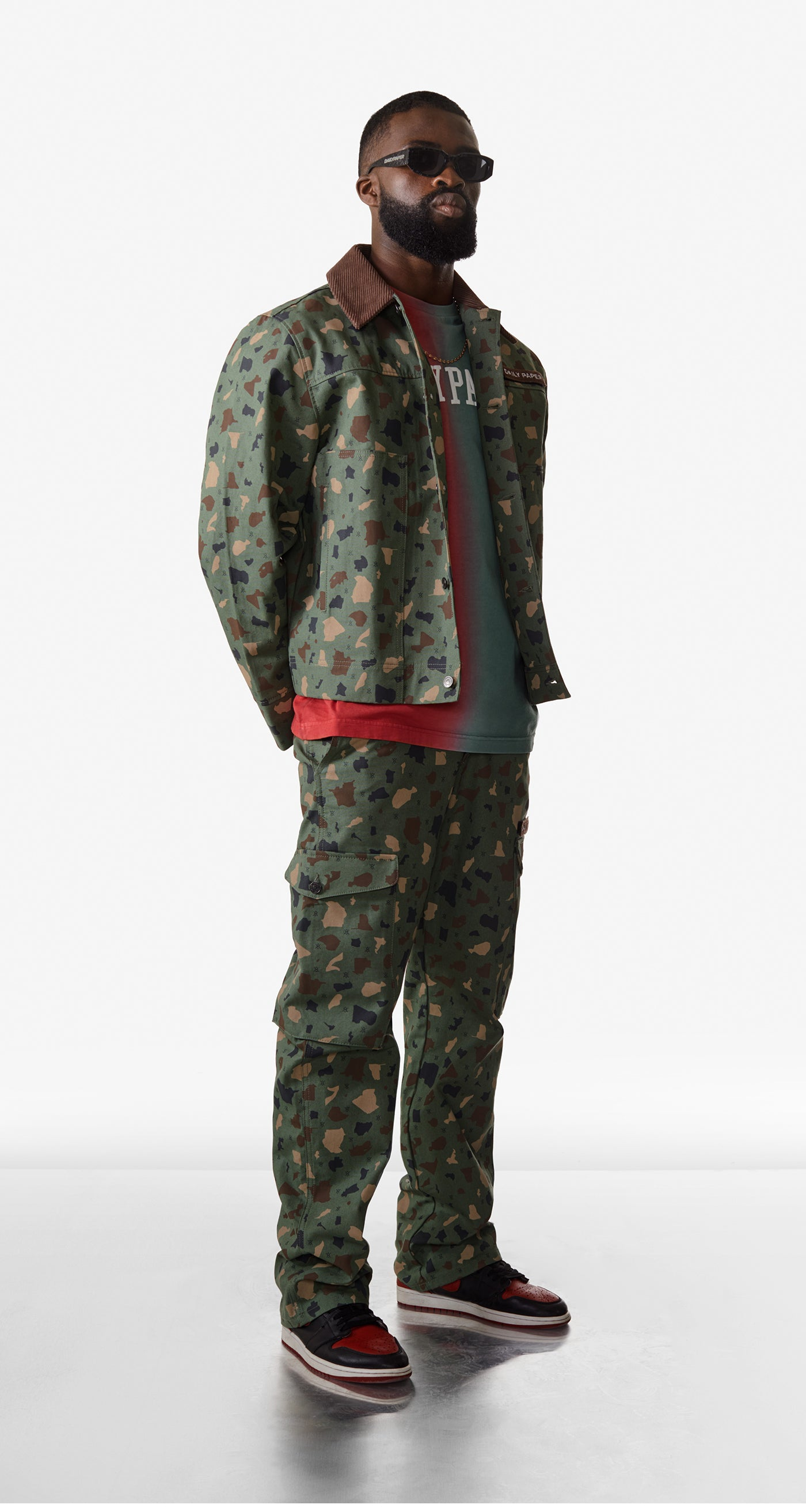 Daily Paper - Green Camo Recomo Coach Jacket - Men Rear