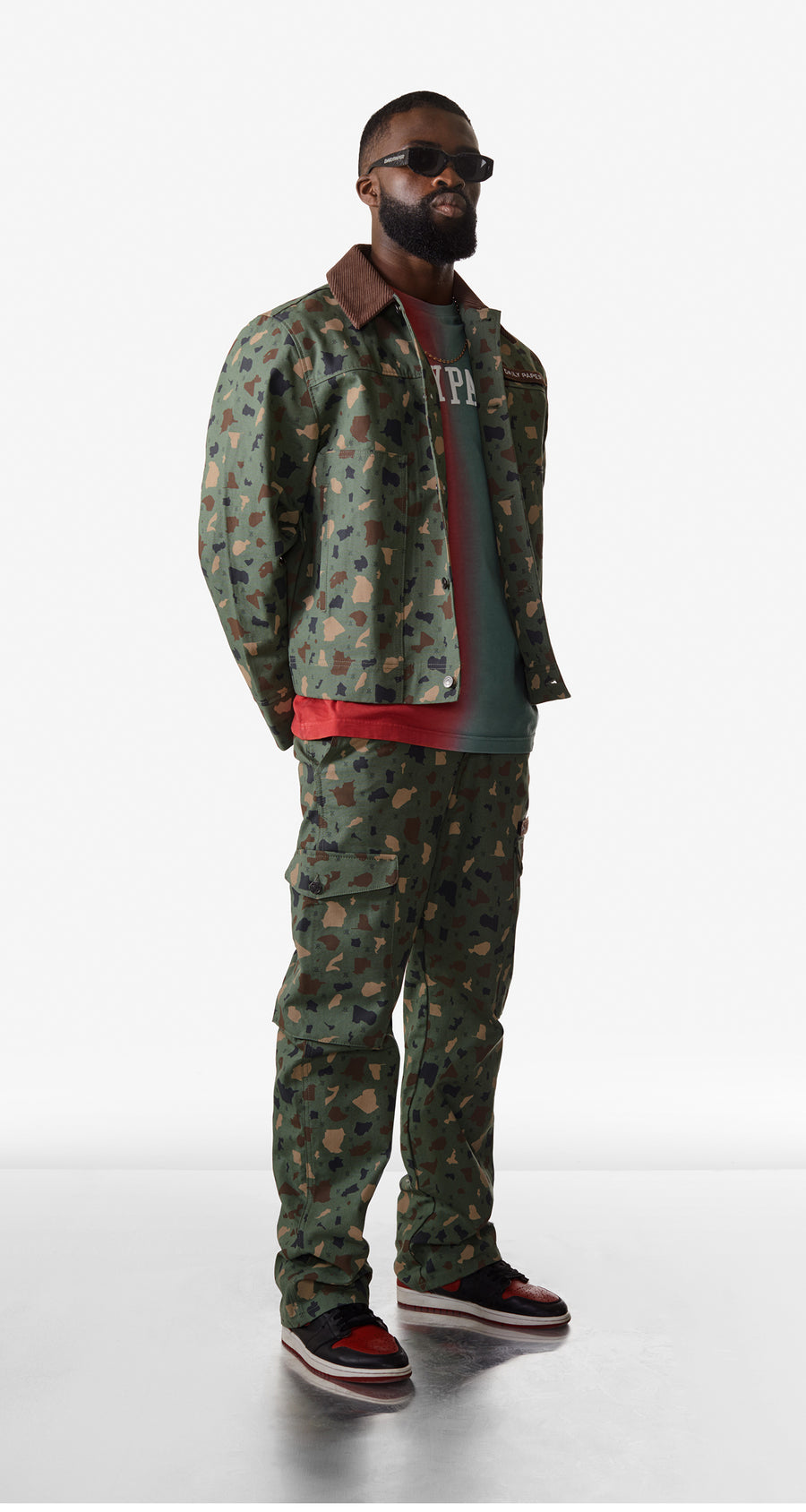 Daily Paper - Green Camo Recomo Cargo Pants - Men Rear