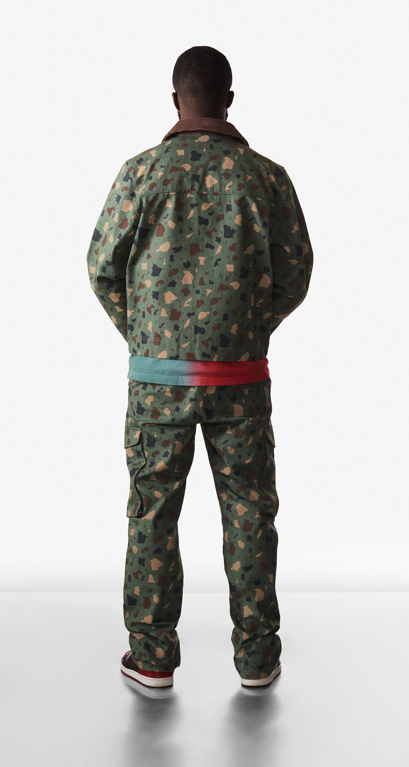 Daily Paper - Green Camo Recomo Coach Jacket - Men