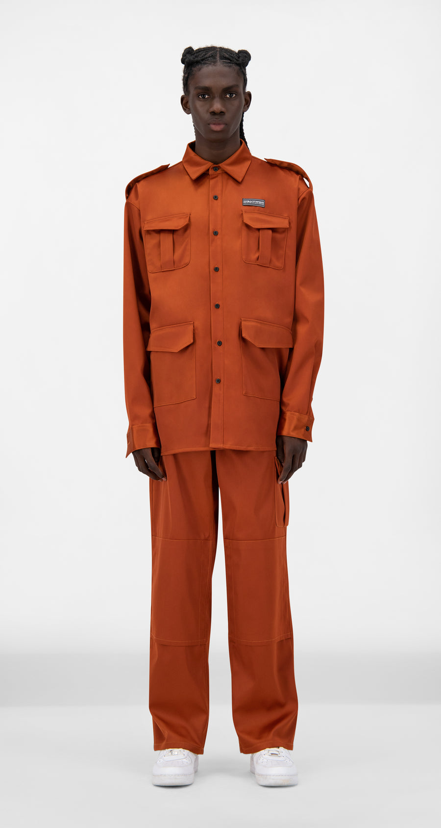 Daily Paper - Rust Javan Satin Jacket - Men Front