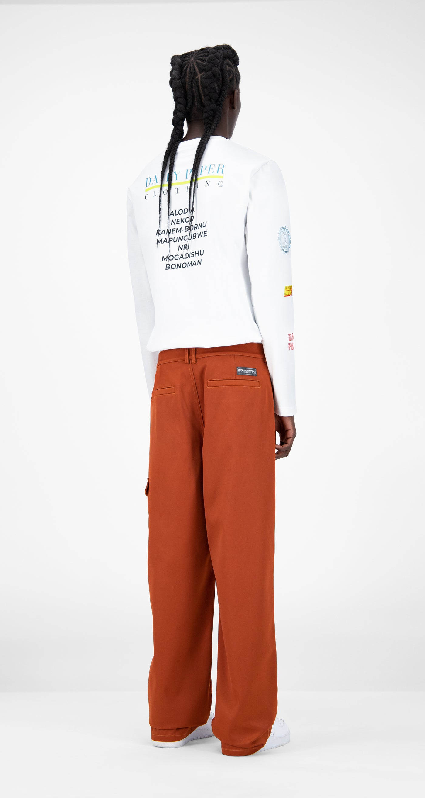 Daily Paper - Rust Jefac Satin Pants - Men Rear