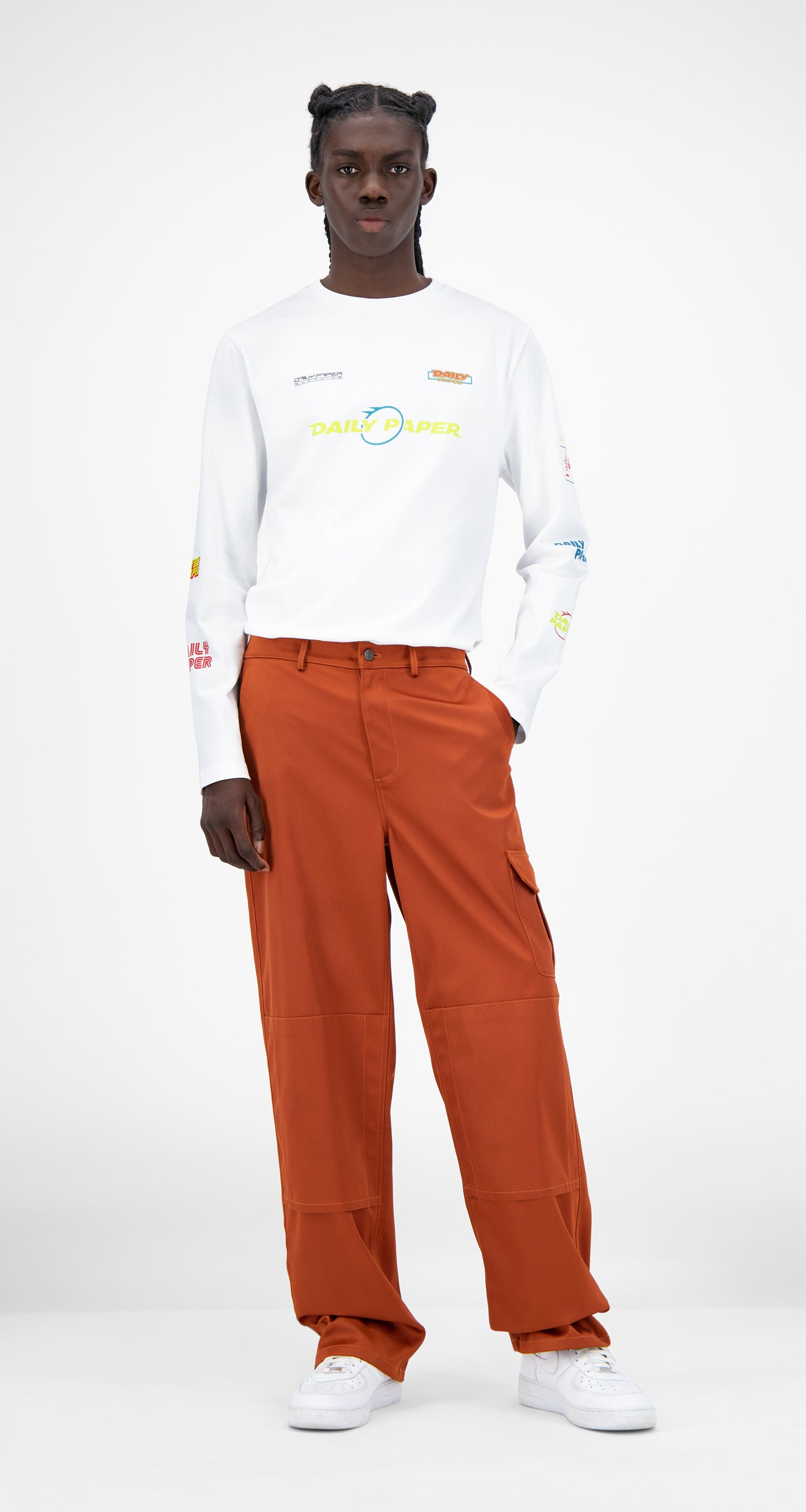 Daily Paper - Rust Jefac Satin Pants - Men