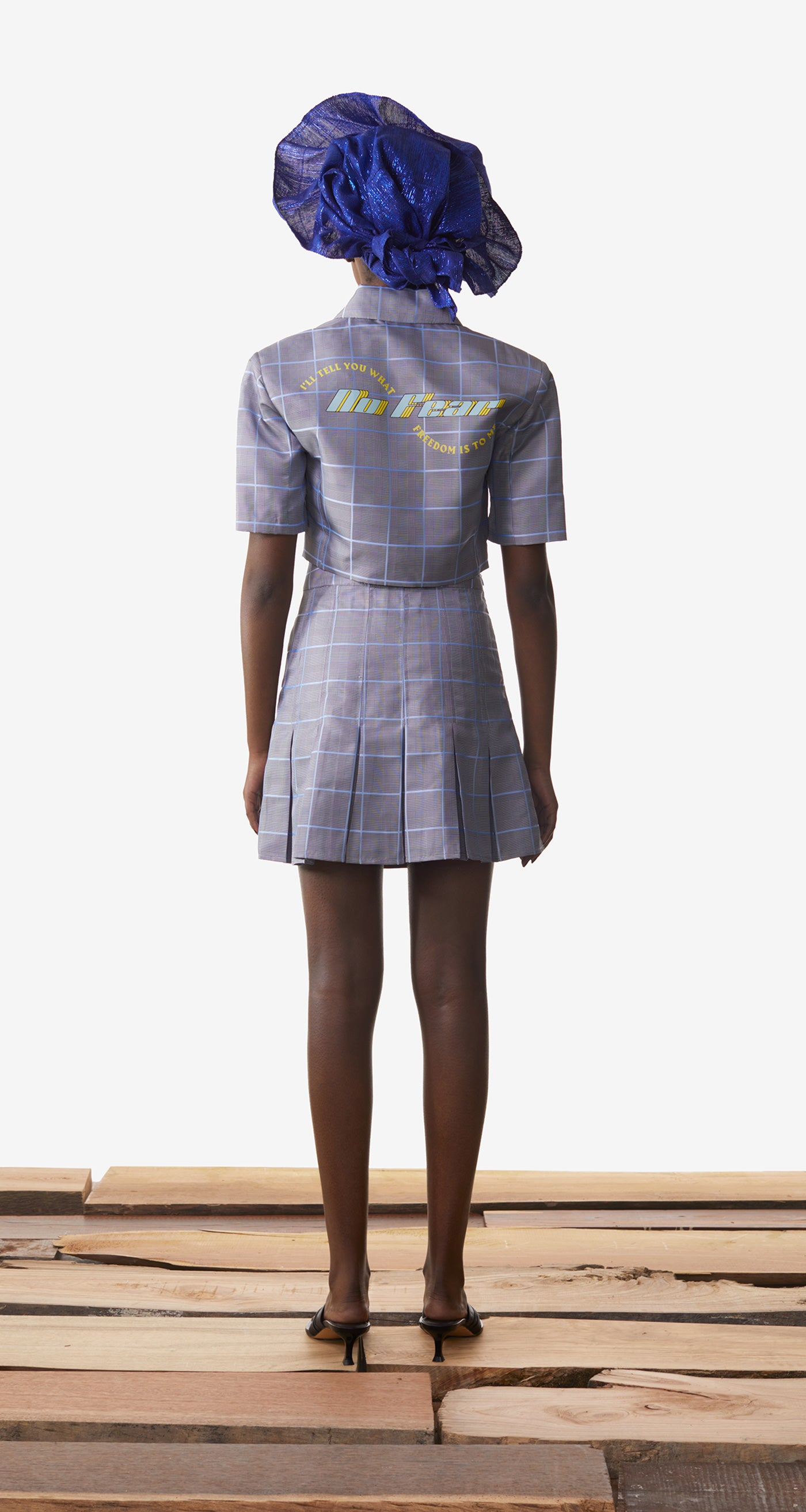 Daily Paper - Light Blue Checked Kalena Blazer - Women