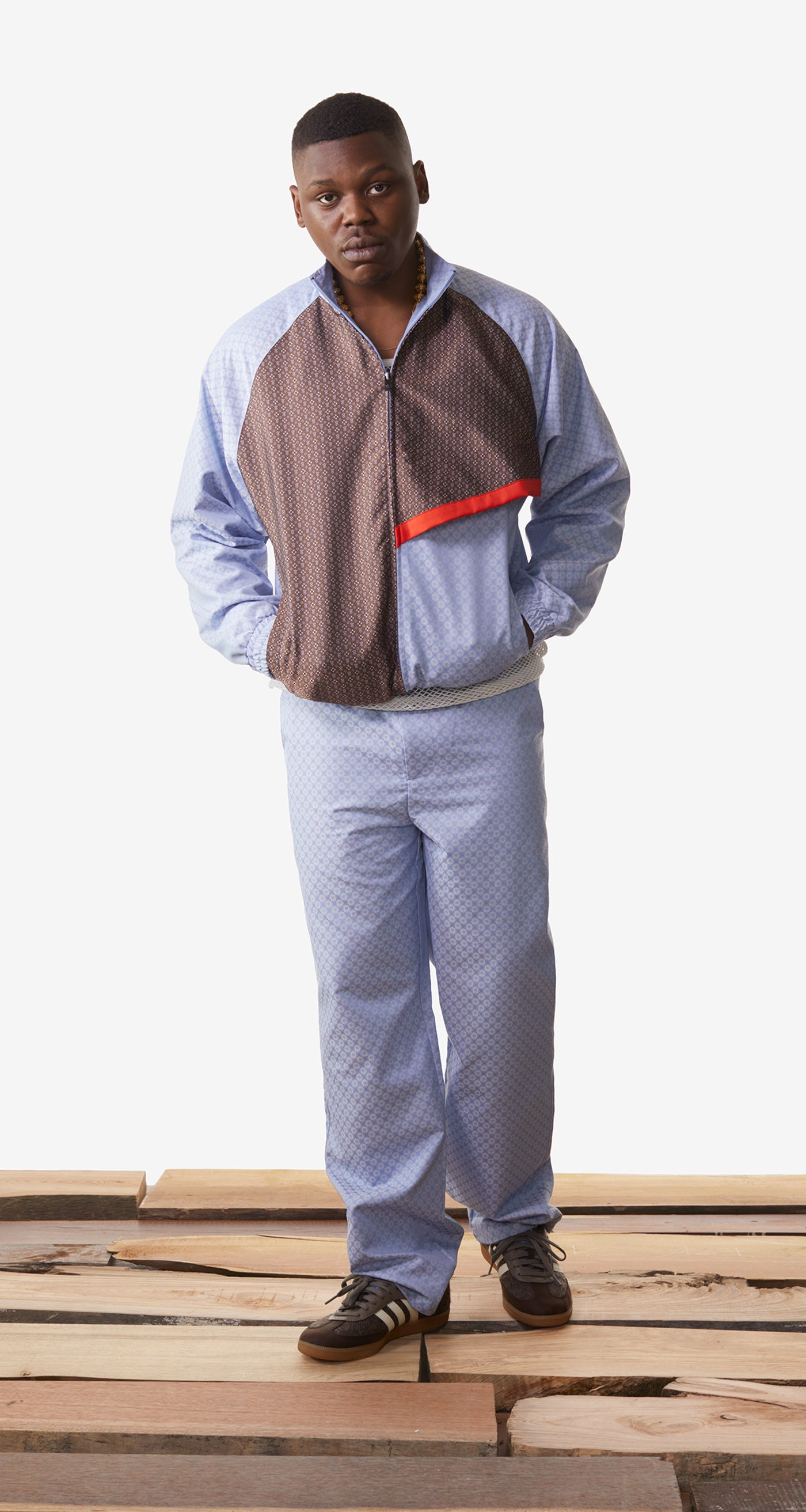 Daily Paper - Light Blue Kasim Track Pants - Men Rear