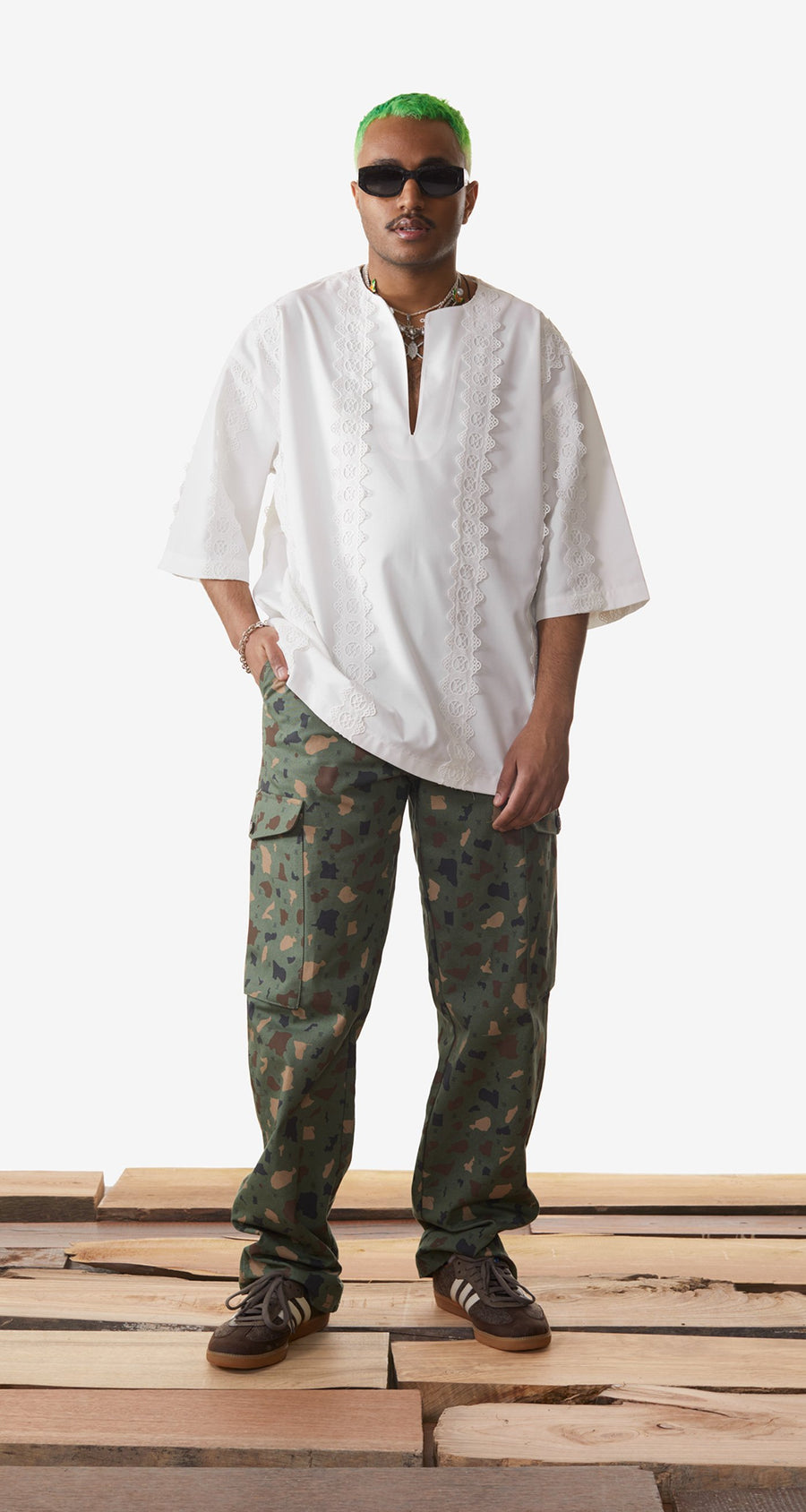 Daily Paper - Off White Khalaf Shirt - Men Rear