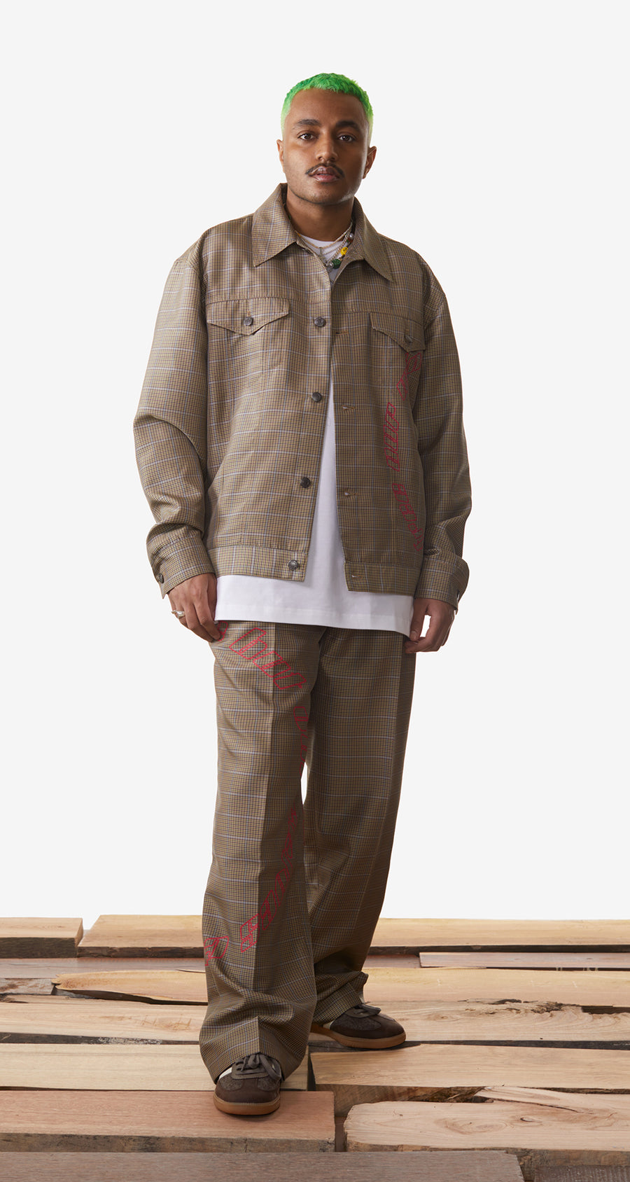 Daily Paper - Sand Checked Kardy Jacket - Men Rear