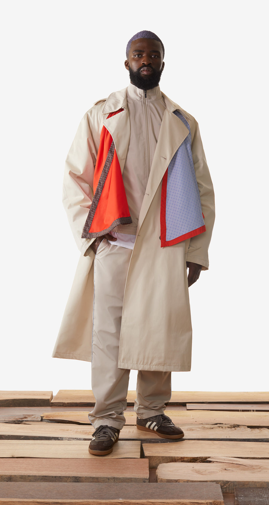 Daily Paper - Beige Kamal Scarf Jacket - Men Rear