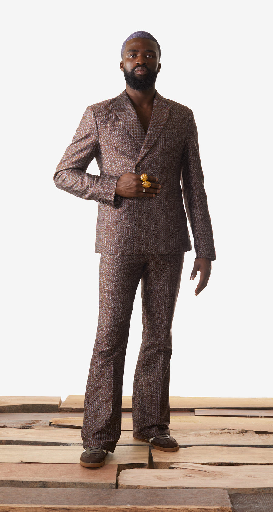 Daily Paper - Brown Kayson Blazer - Men Rear