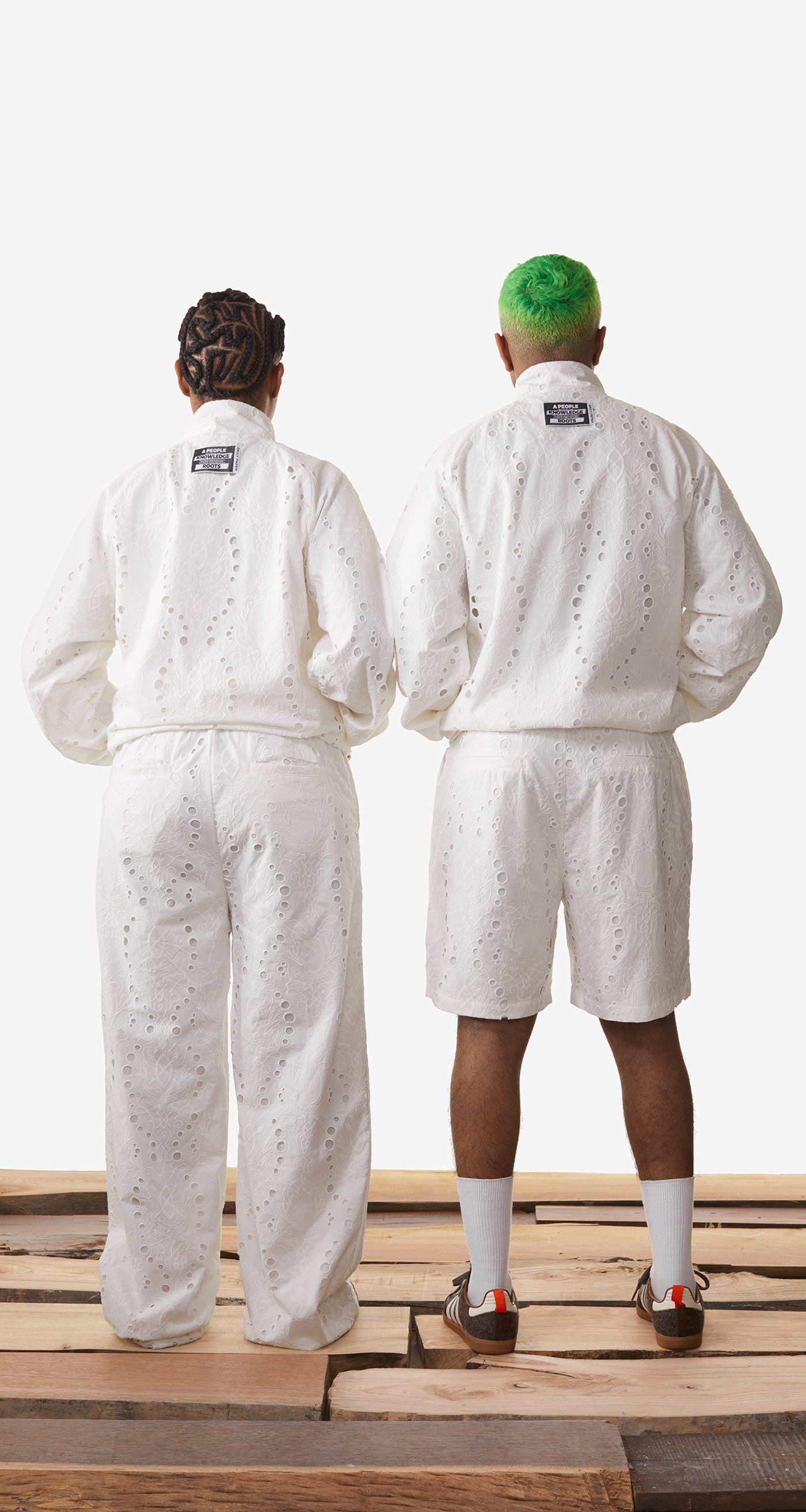 Daily Paper - White Klevon Lace Shorts - Men