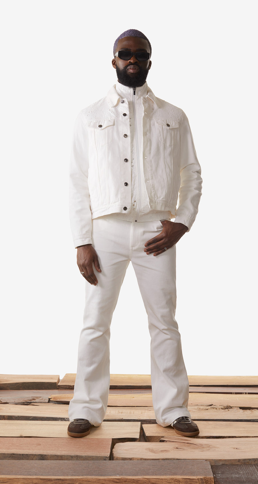 Daily Paper - White Kajean Jacket - Men Rear