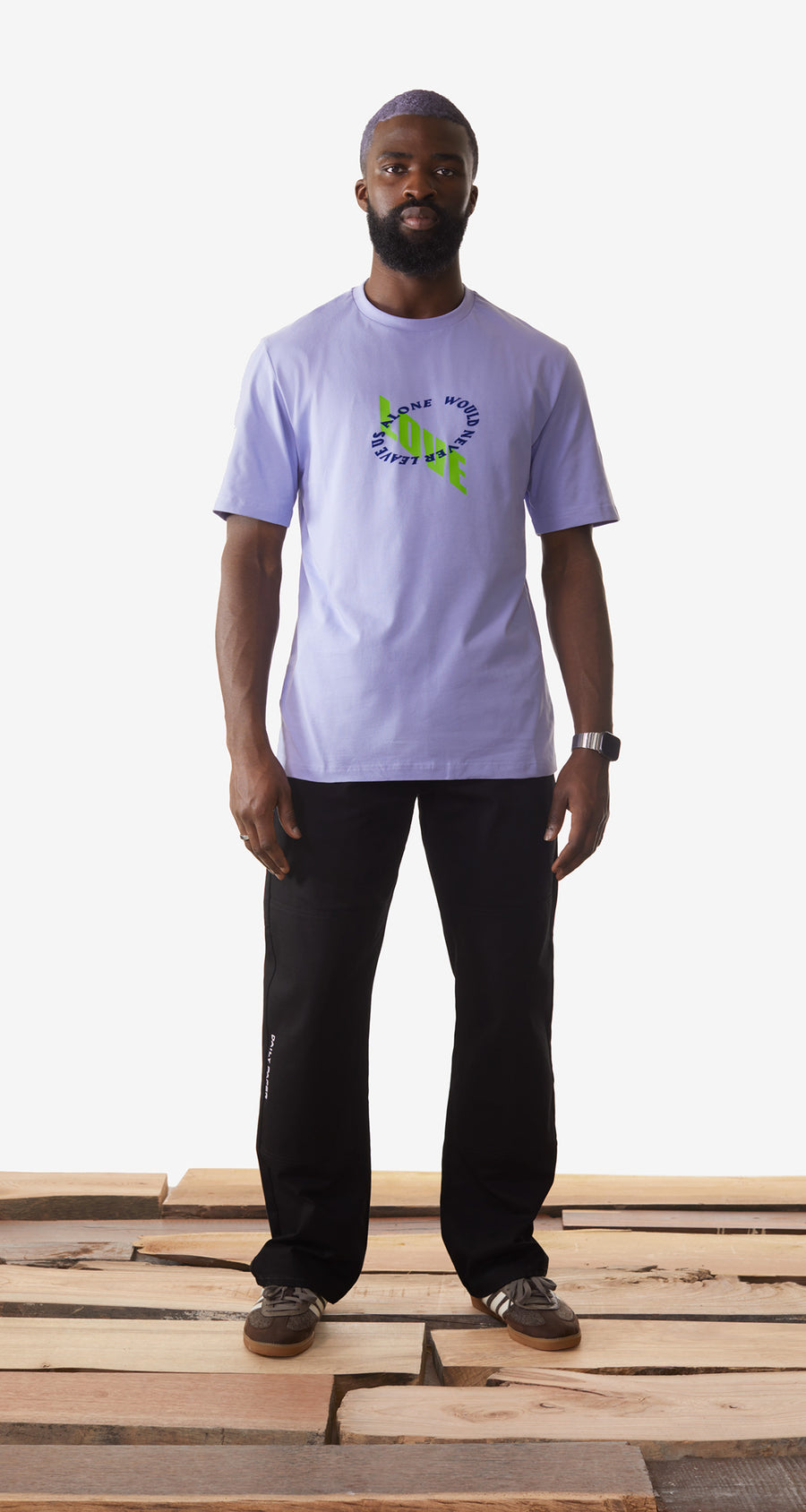 Daily Paper - Jacaranda Purple Korjac T-Shirt - Men Rear