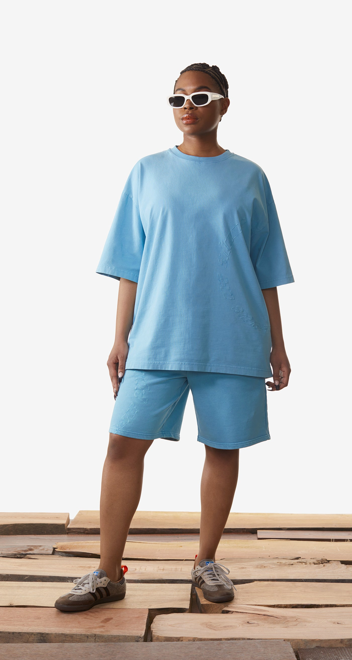 Daily Paper - Swedish Blue Kenspla T-Shirt - Women Rear