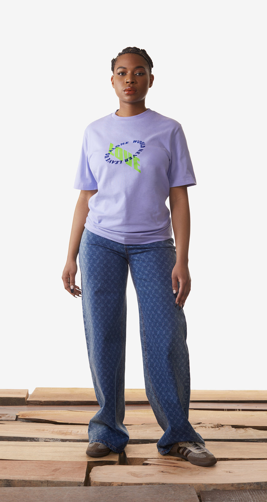 Daily Paper - Jacaranda Purple Korjac T-Shirt - Women Rear