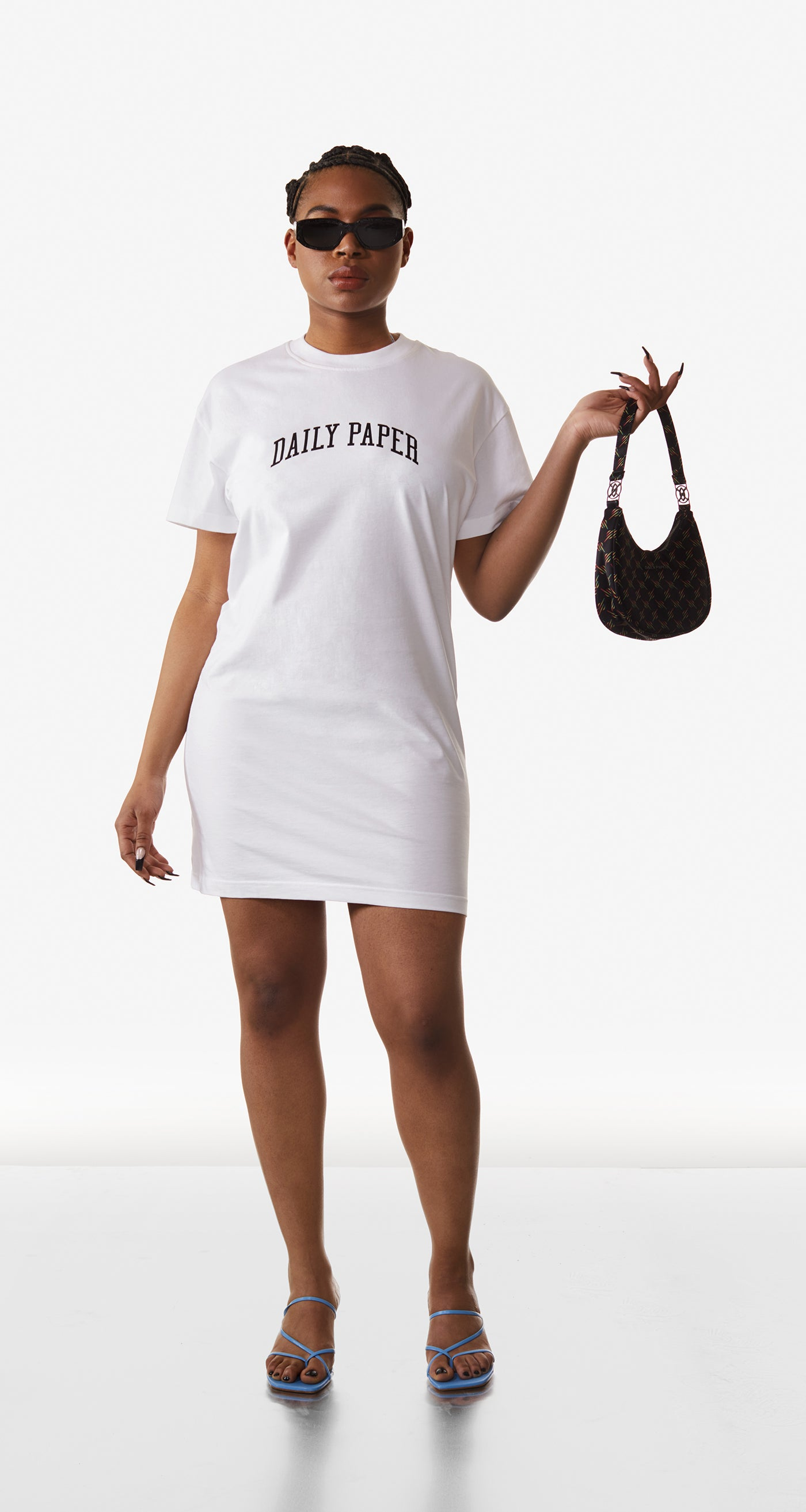 Daily Paper - White Regra Dress - Women Rear