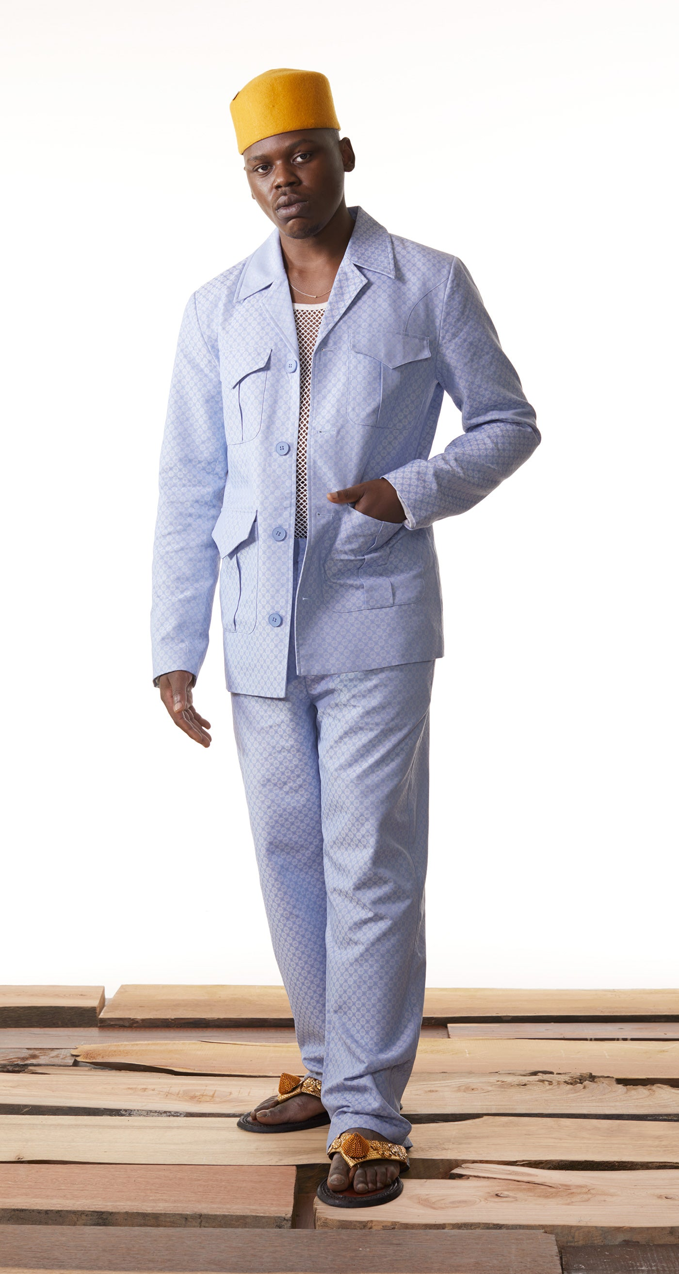 Daily Paper - Light Blue Kadir Blazer - Men Rear
